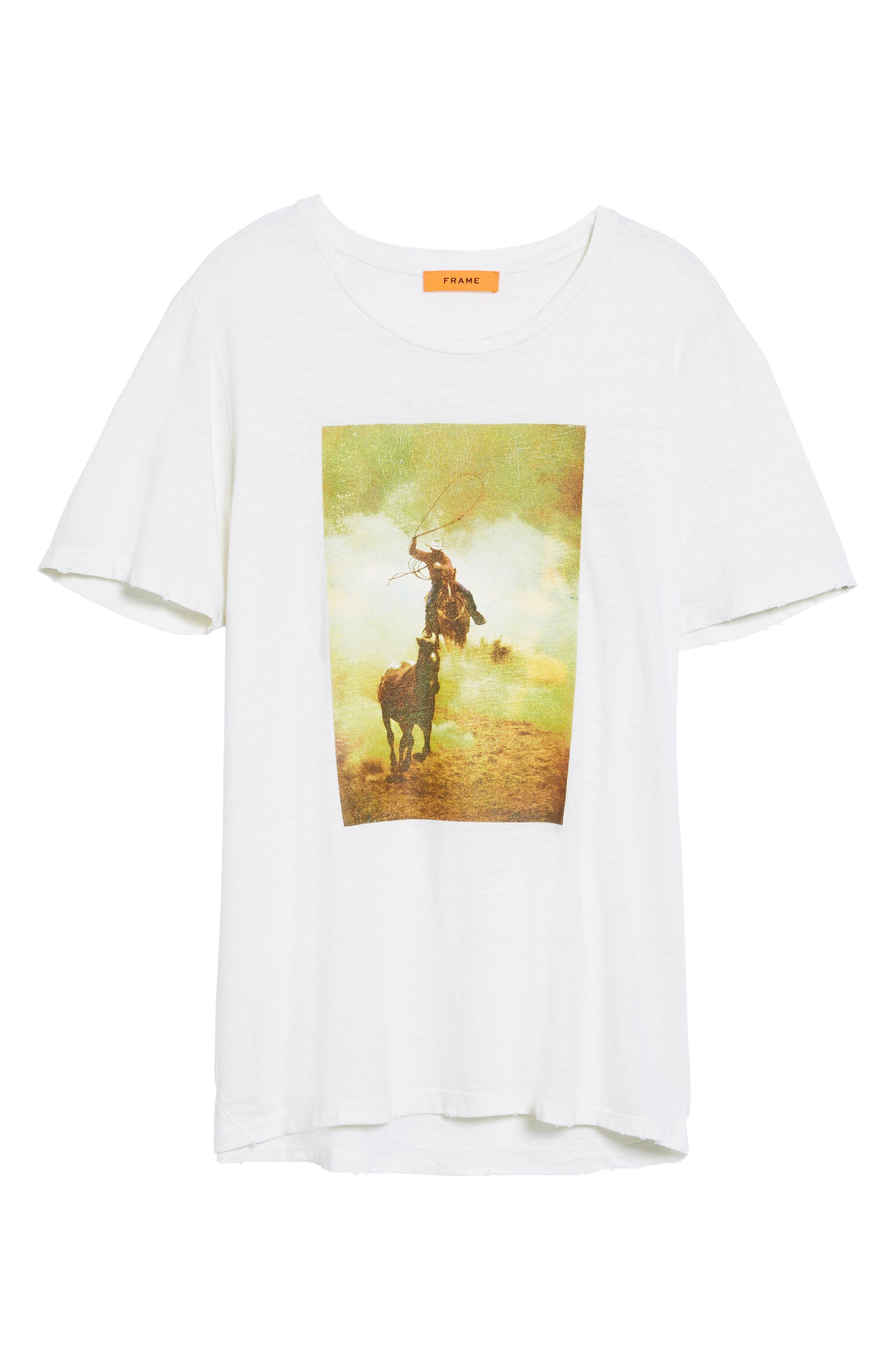 Bronco 6 T-Shirt,                             Alternate thumbnail 6, color,                             100