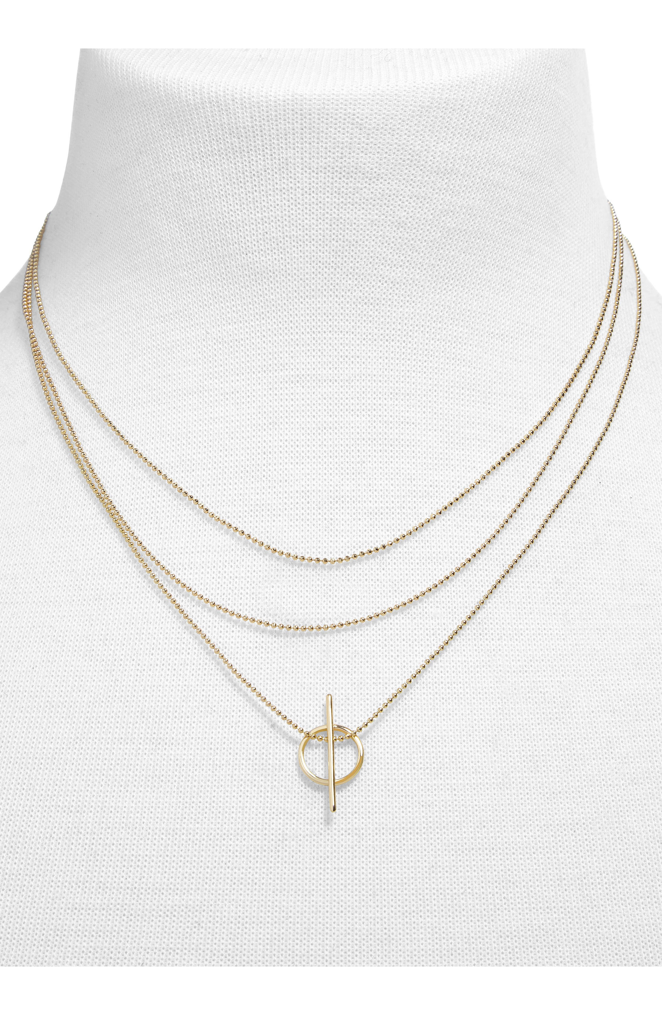 Delicate Bead Chain Necklace,                             Alternate thumbnail 2, color,                             711