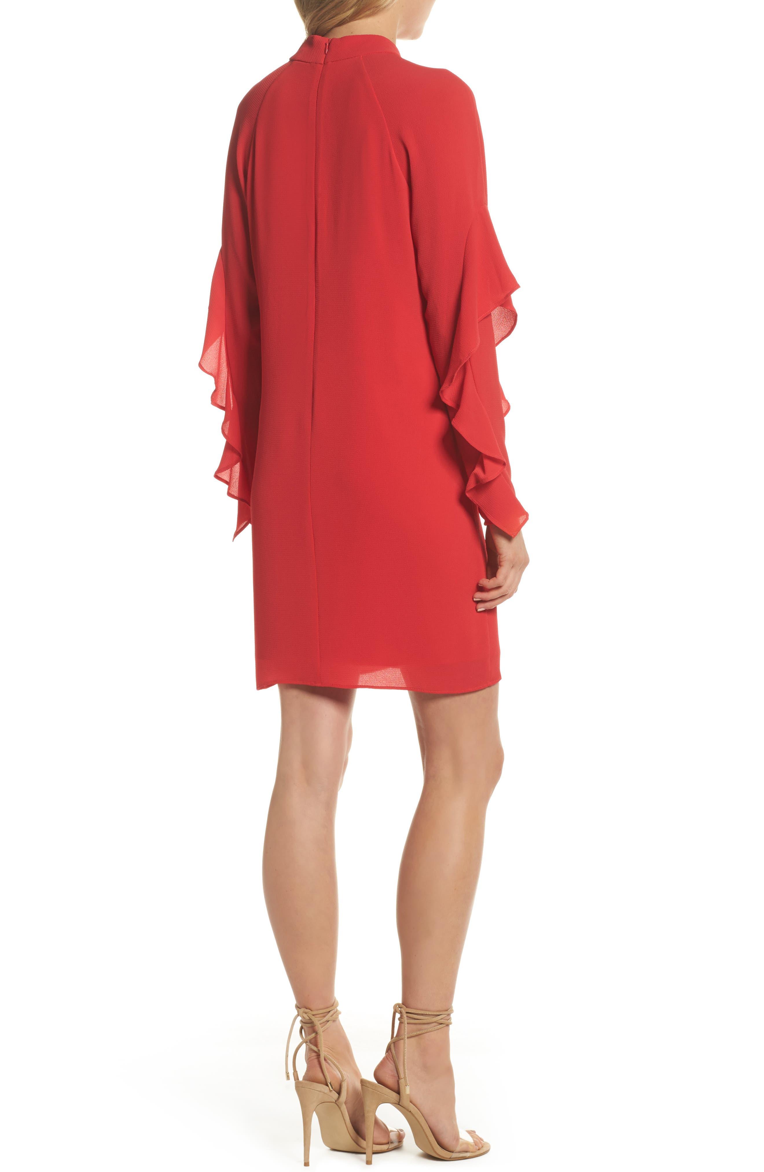 Catalina Ruffle Sleeve Dress,                             Alternate thumbnail 2, color,                             648