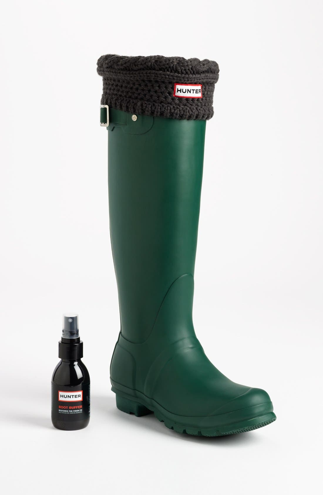 'Original Tall' Rain Boot,                             Alternate thumbnail 8, color,                             BLACK/ DARK SLATE