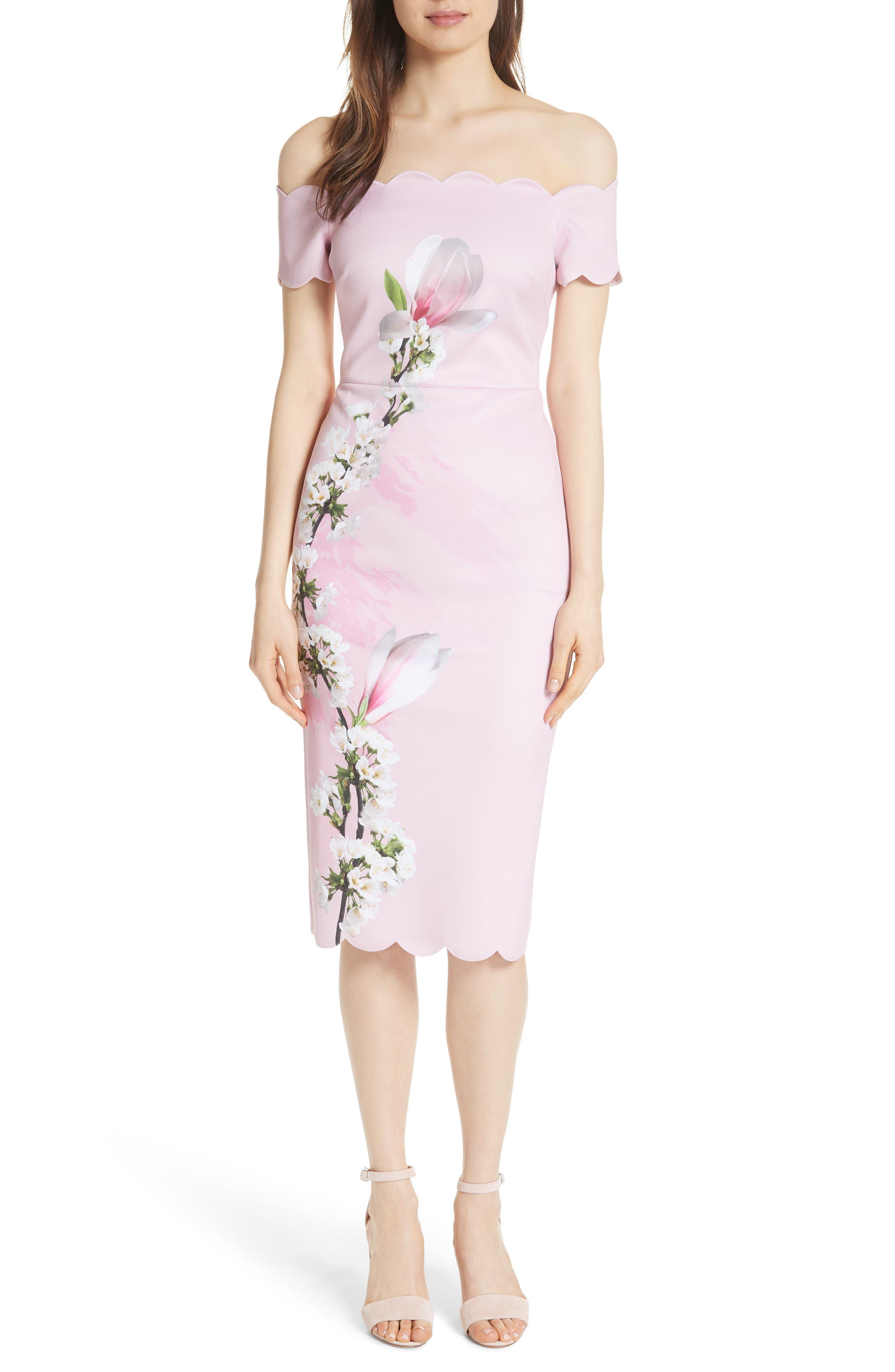 Olyva Harmony Body-Con Dress,                             Main thumbnail 1, color,                             PALE PINK