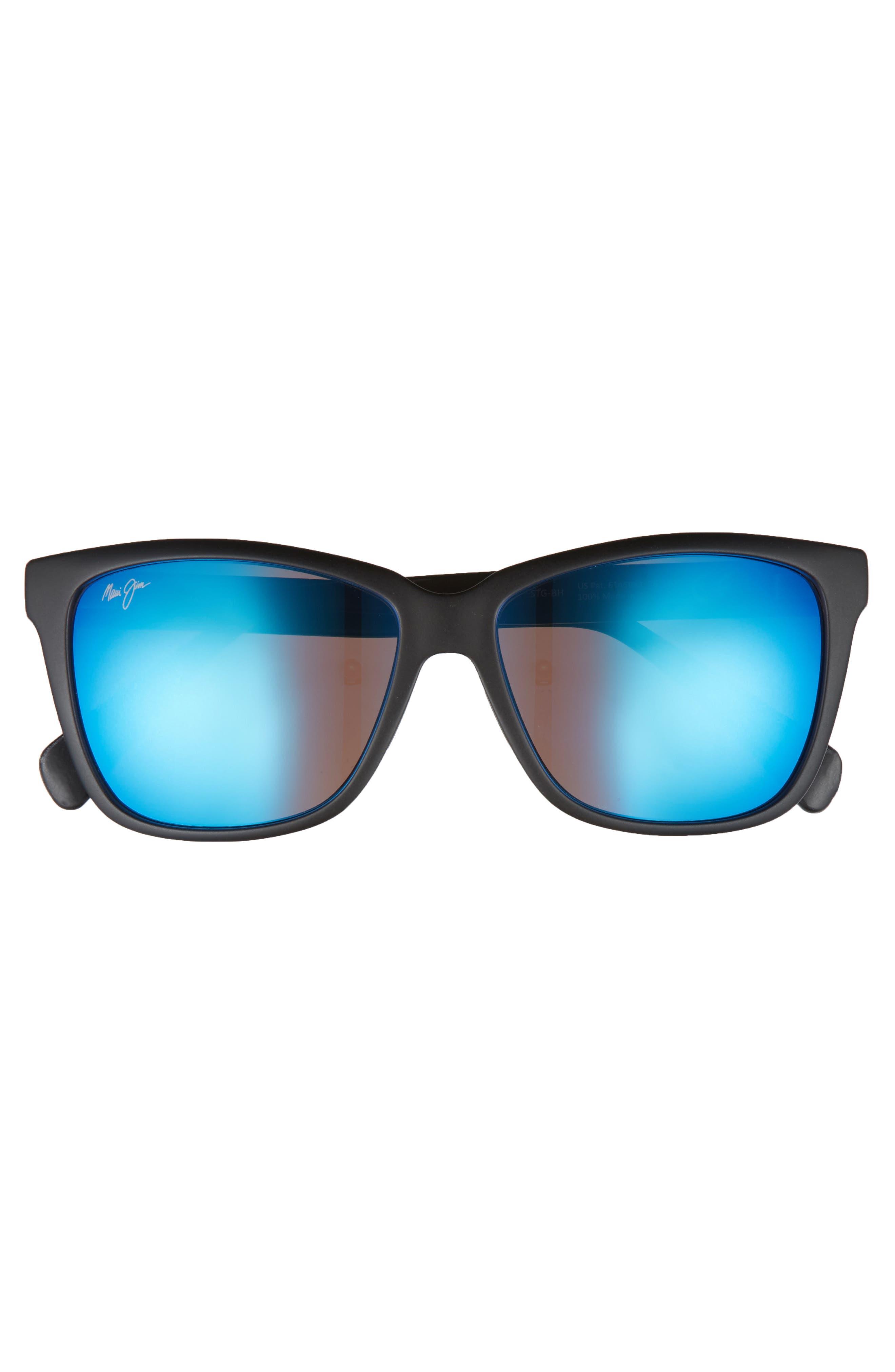 56mm Jacaranda Polarized Sunglasses,                             Alternate thumbnail 3, color,                             001