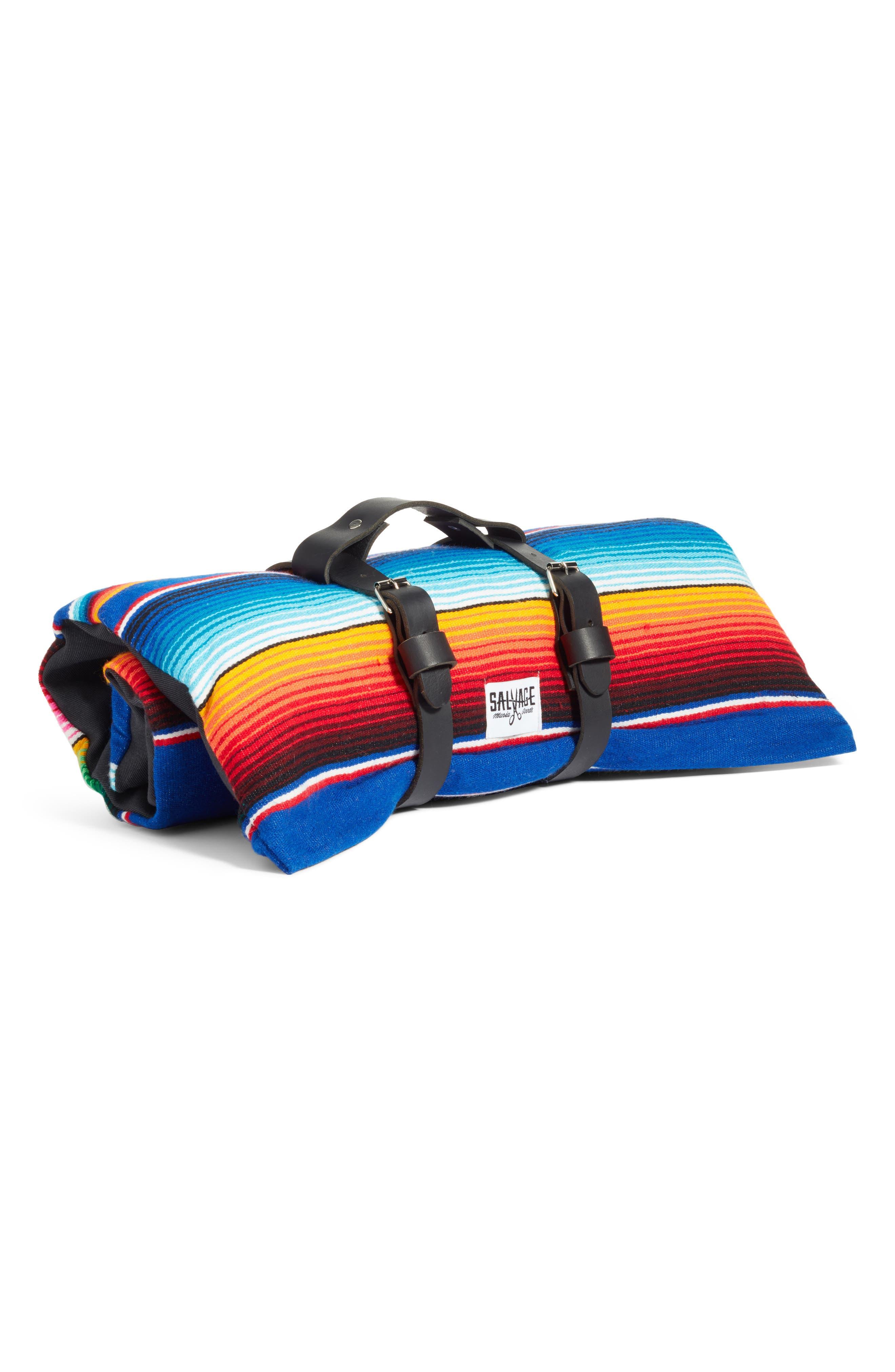 Saltillo Serape Roll-Up Dog Bed,                             Alternate thumbnail 2, color,