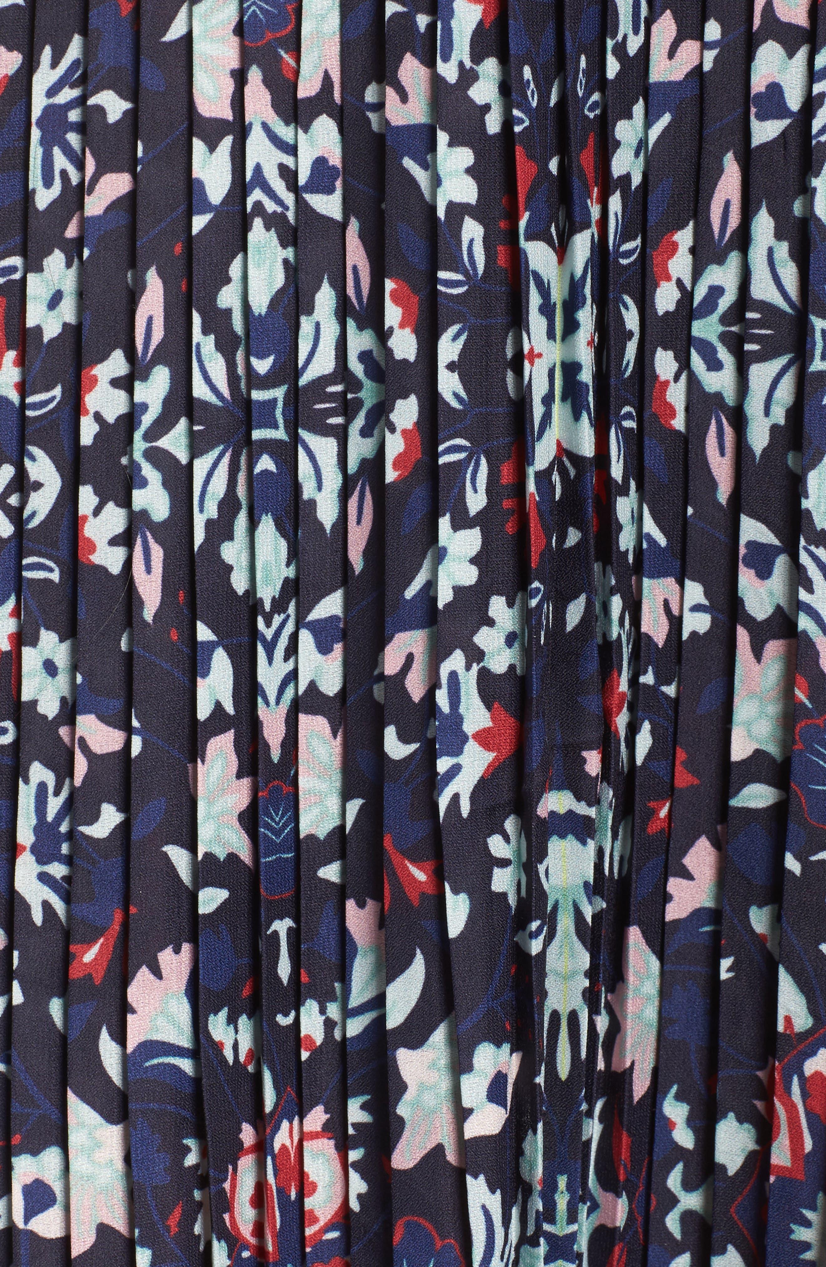 Miranda Pleat Ruffle Dress,                             Alternate thumbnail 5, color,                             400