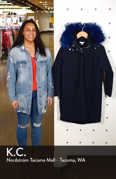 Megan Water Repellent Parka with Faux Fur Trim, sales video thumbnail