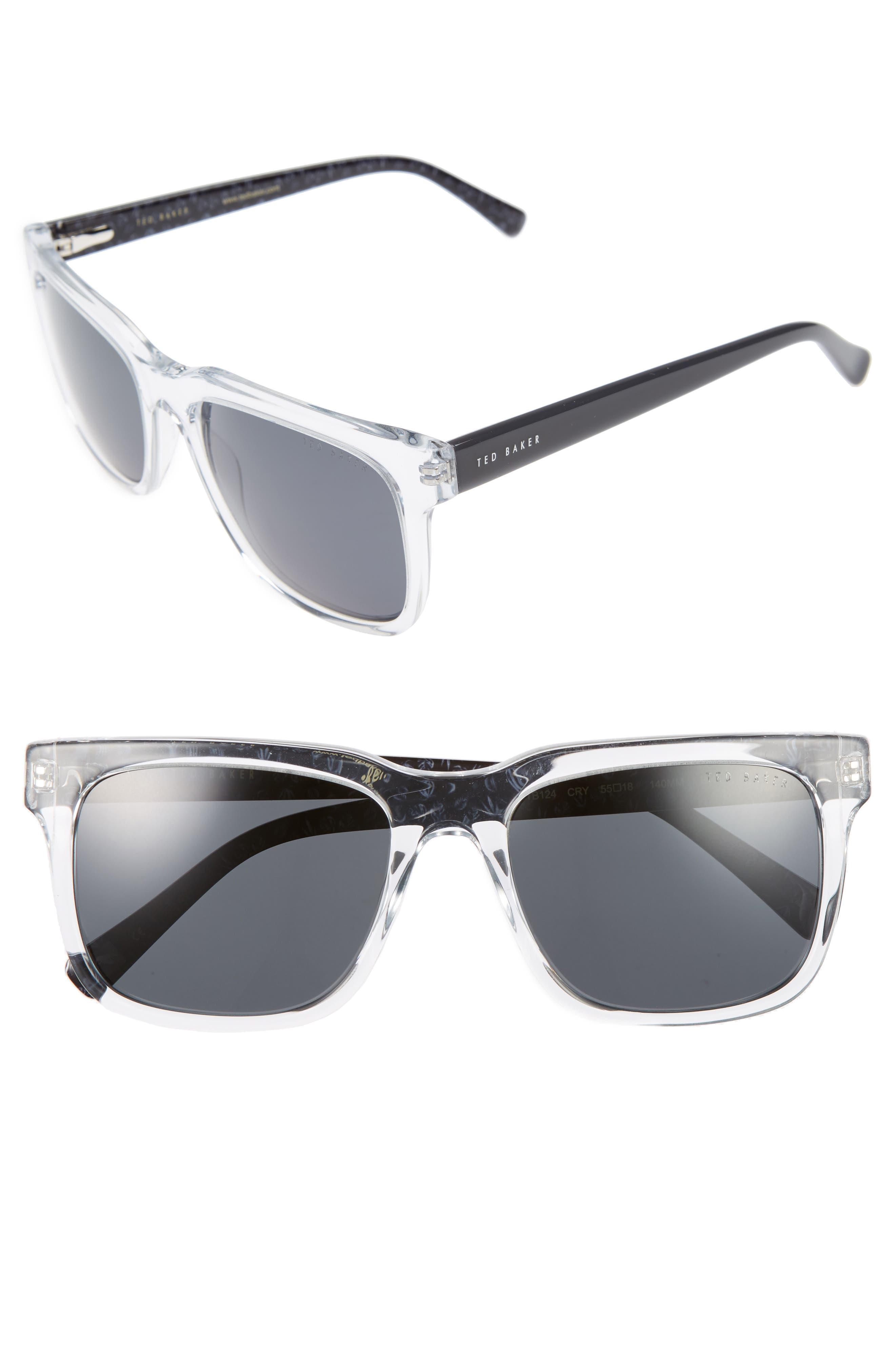 55mm Polarized Sunglasses,                         Main,                         color, 141