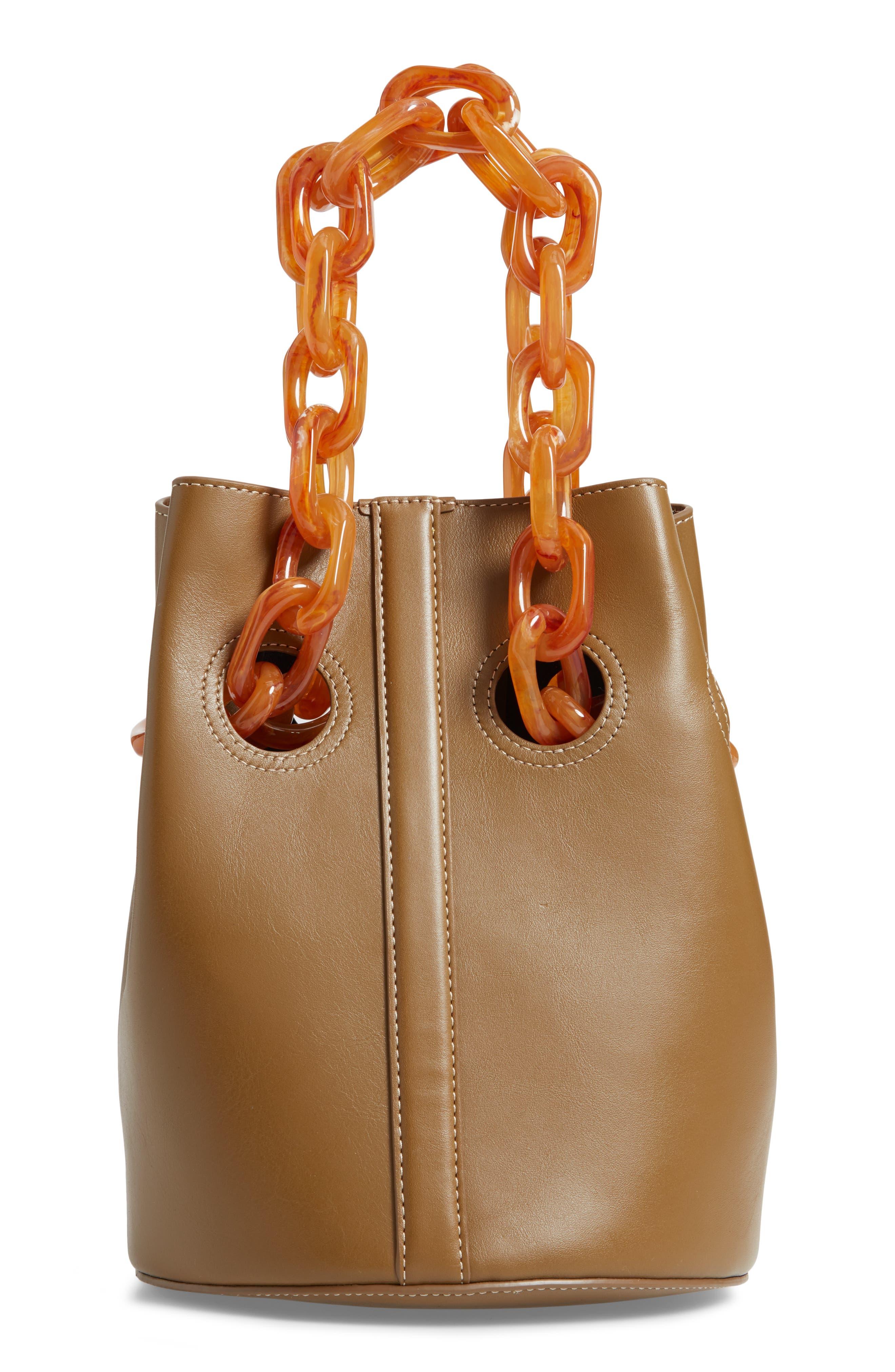 Goodall Leather Bucket Bag,                             Alternate thumbnail 3, color,                             200