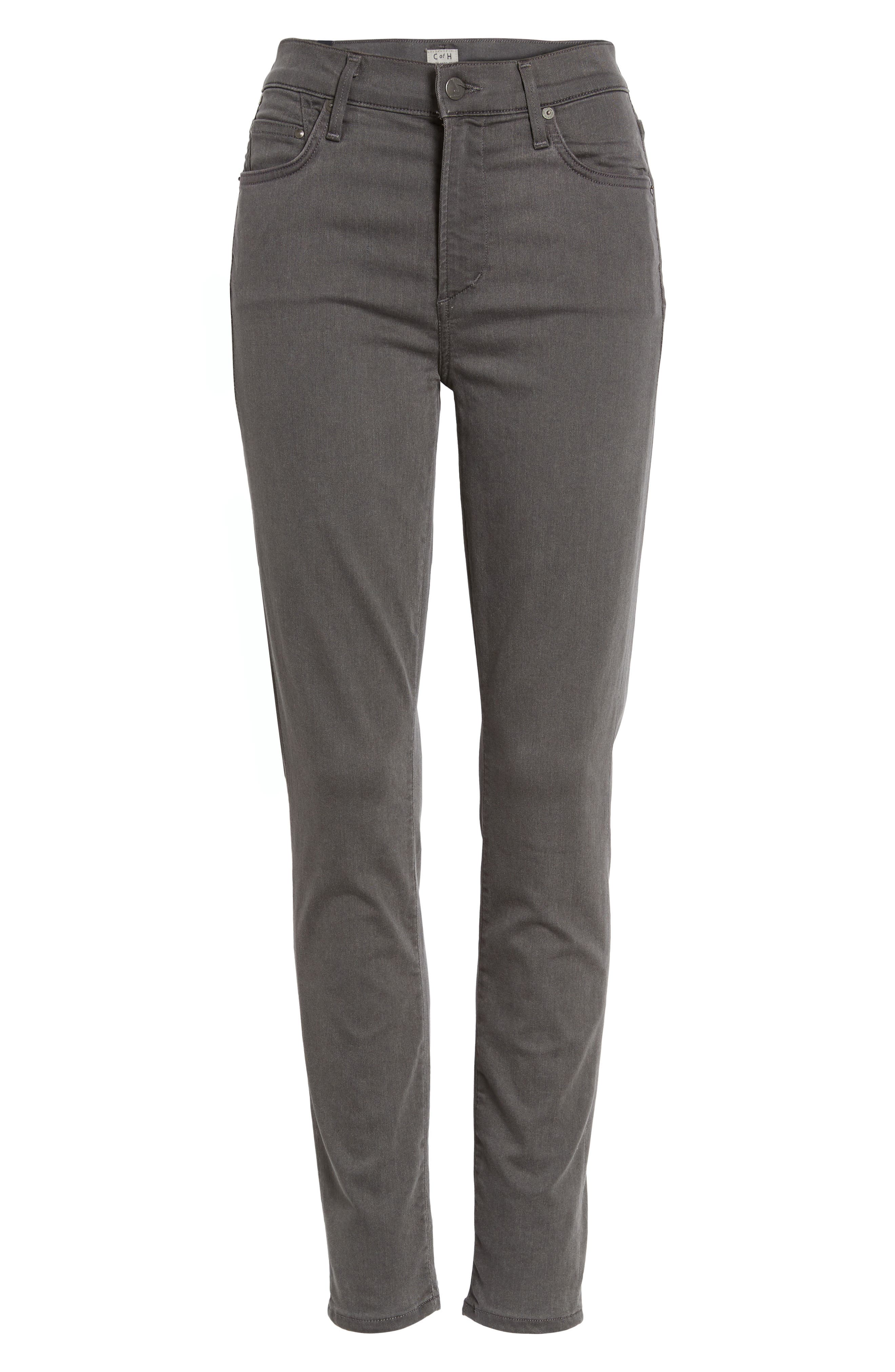 Rocket Petite High Waist Skinny Jeans,                             Alternate thumbnail 6, color,                             034