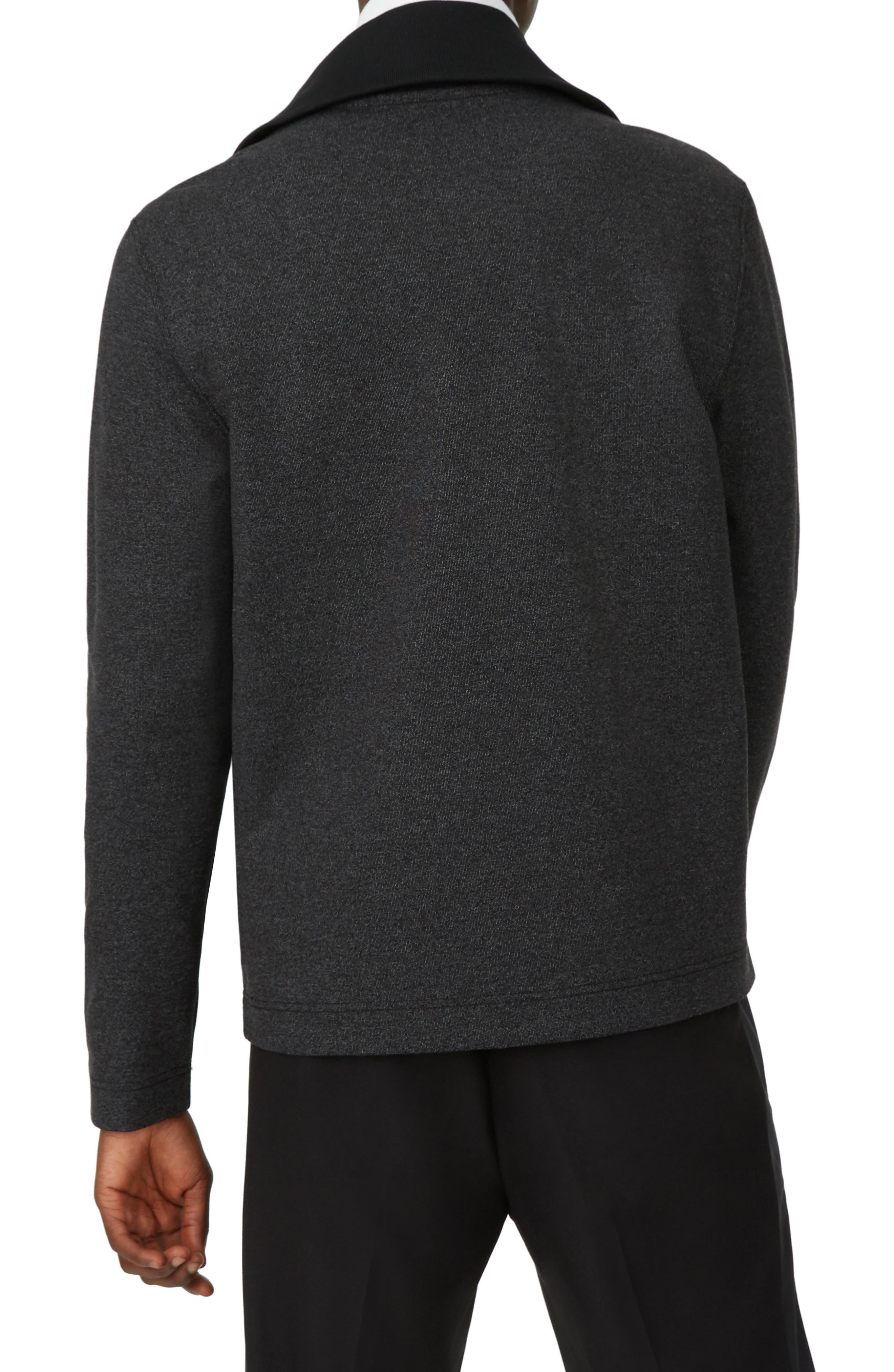 Trim Fit Quarter Zip Pullover,                             Alternate thumbnail 2, color,                             GREY