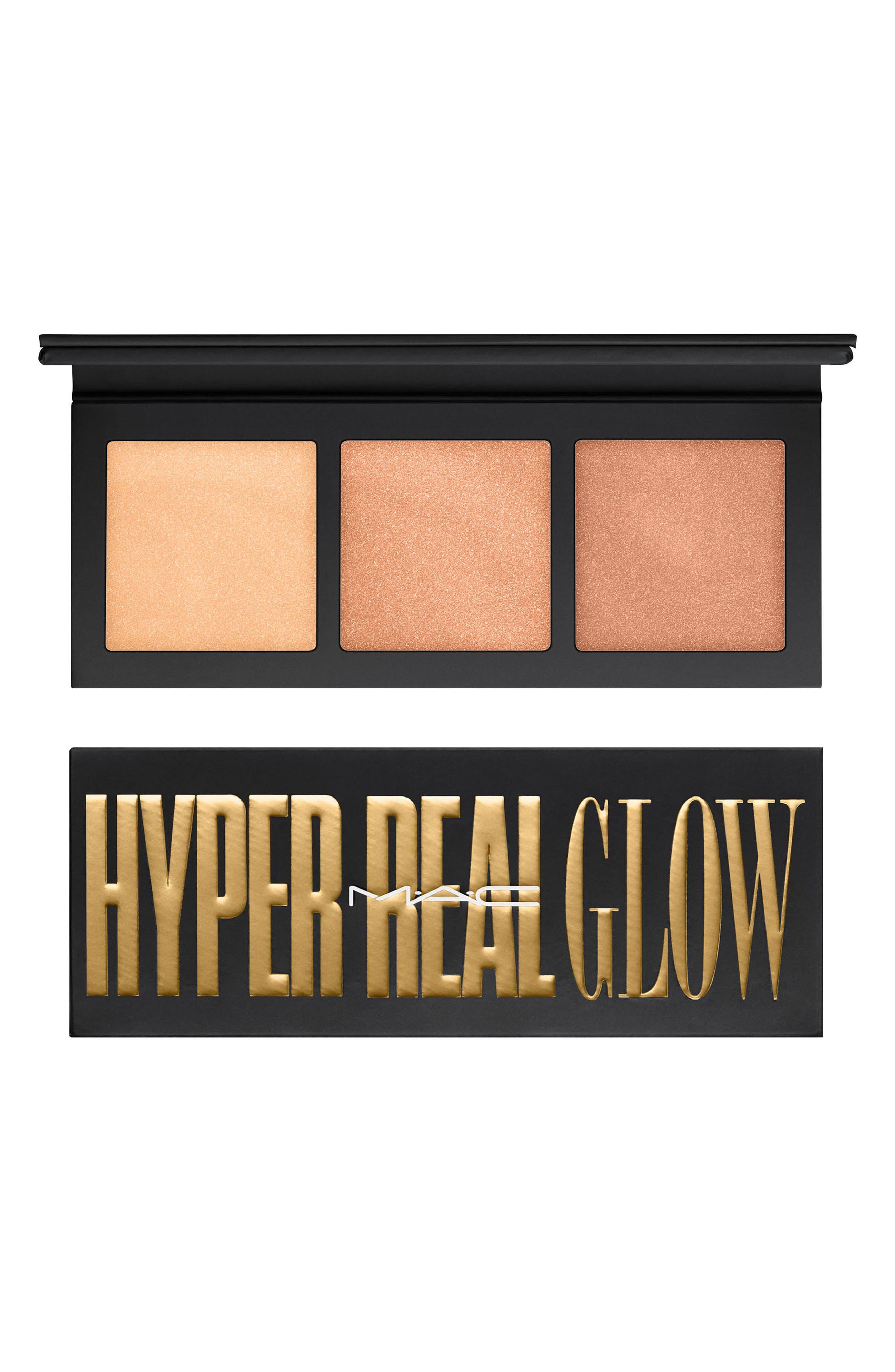 MAC Hyper Real Glow Palette,                             Main thumbnail 1, color,                             GET IT GLOWIN