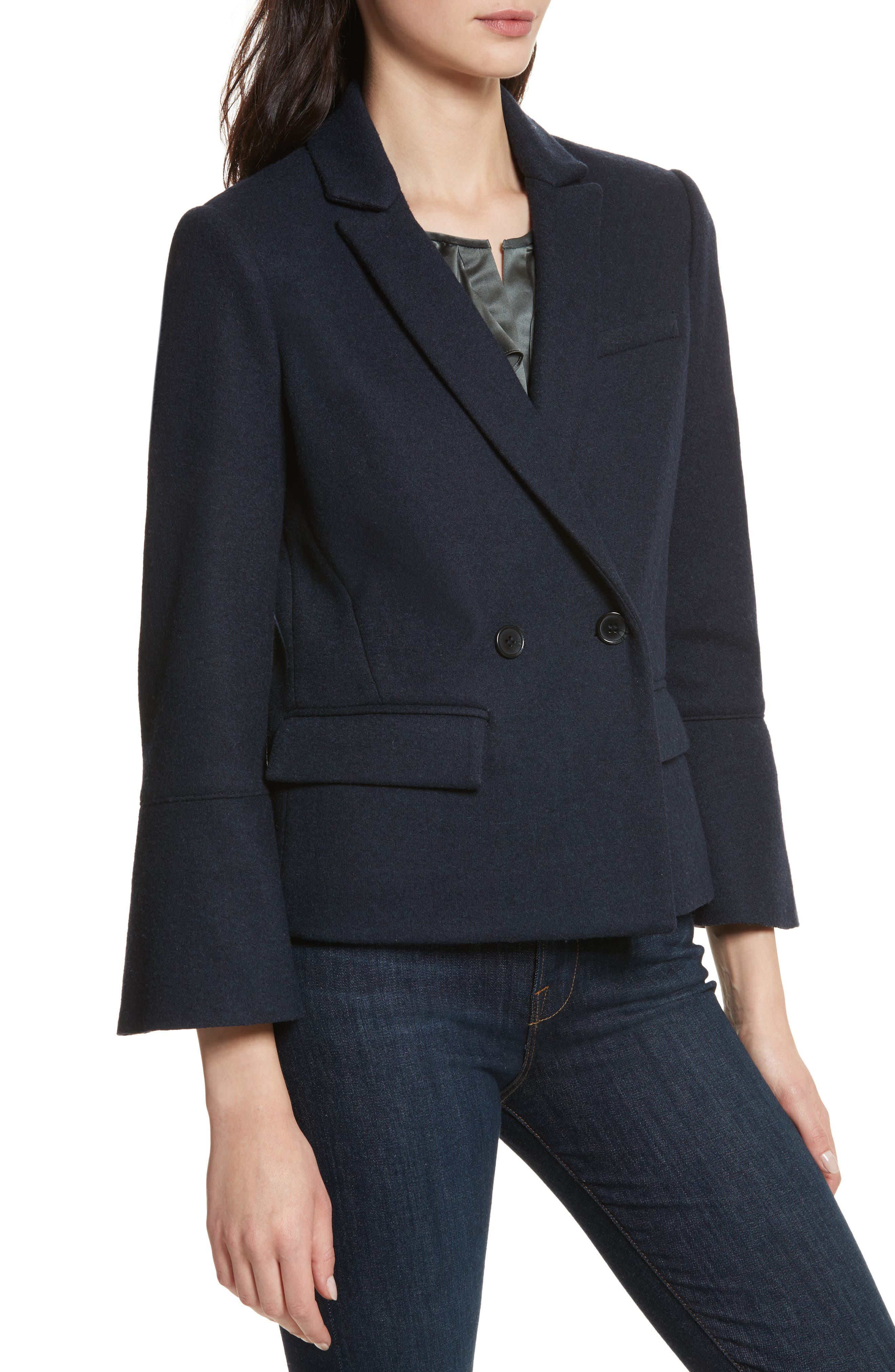 Aeolia Bell Sleeve Jacket,                             Alternate thumbnail 4, color,                             418