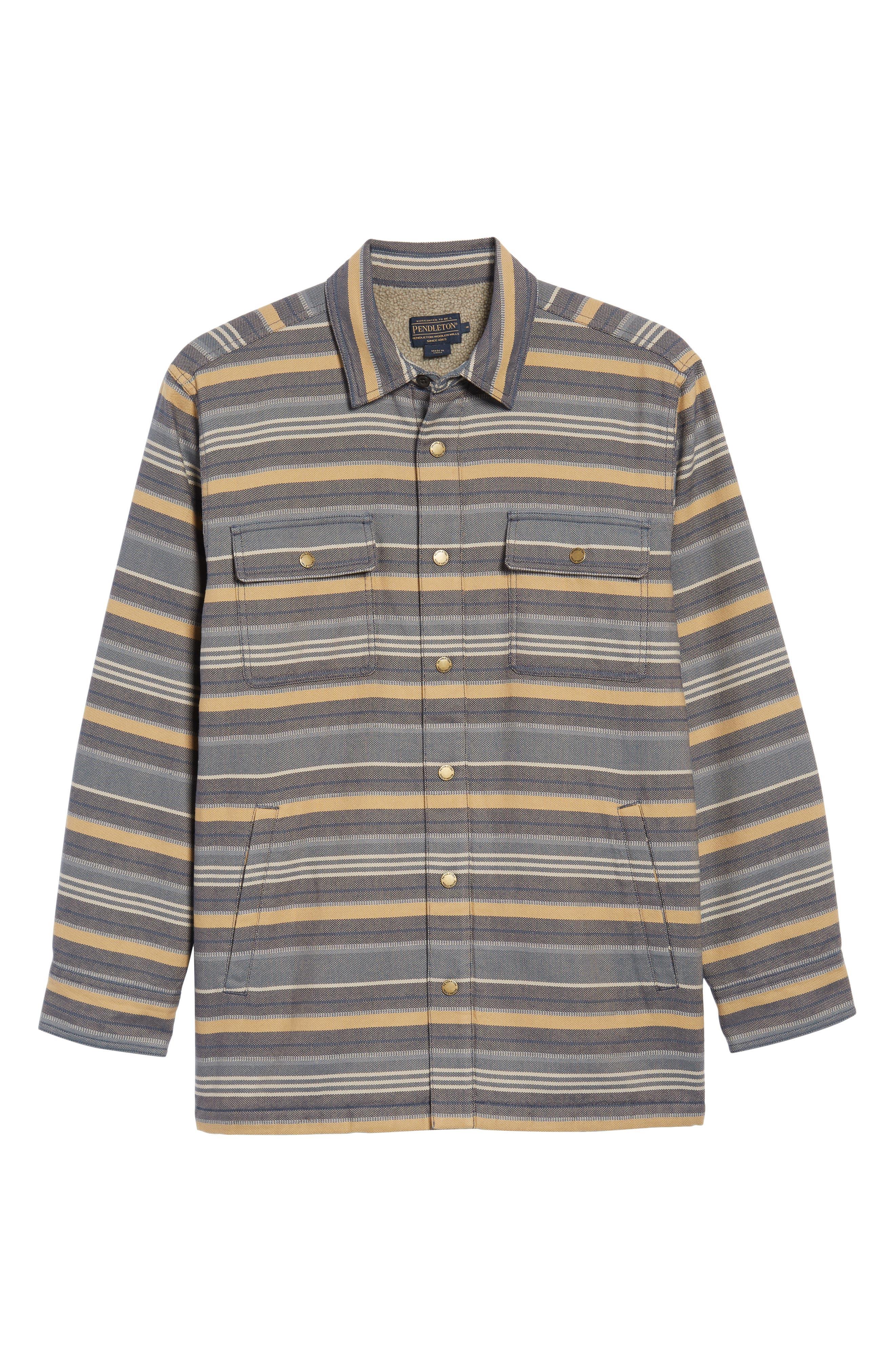 Fleece Lined Shirt Jacket,                             Alternate thumbnail 5, color,                             460