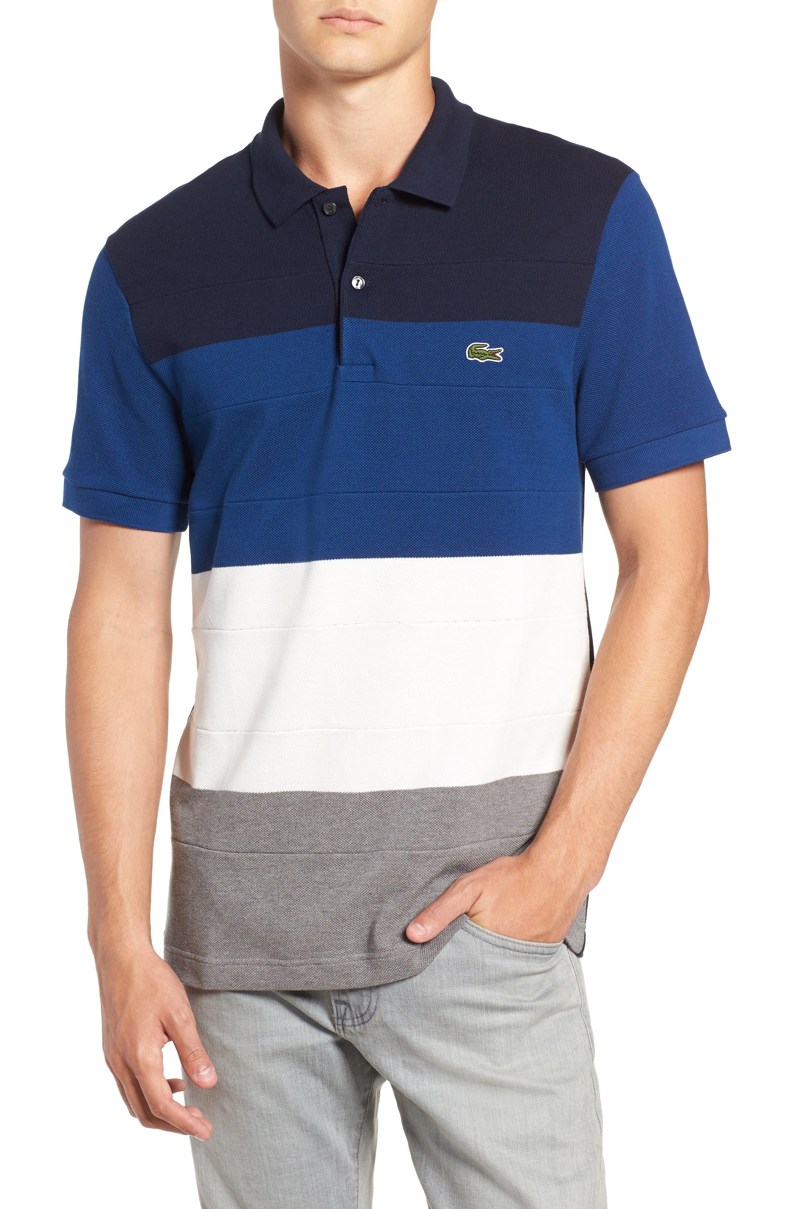 Regular Fit Colorblock Piqué Polo,                         Main,                         color, 036