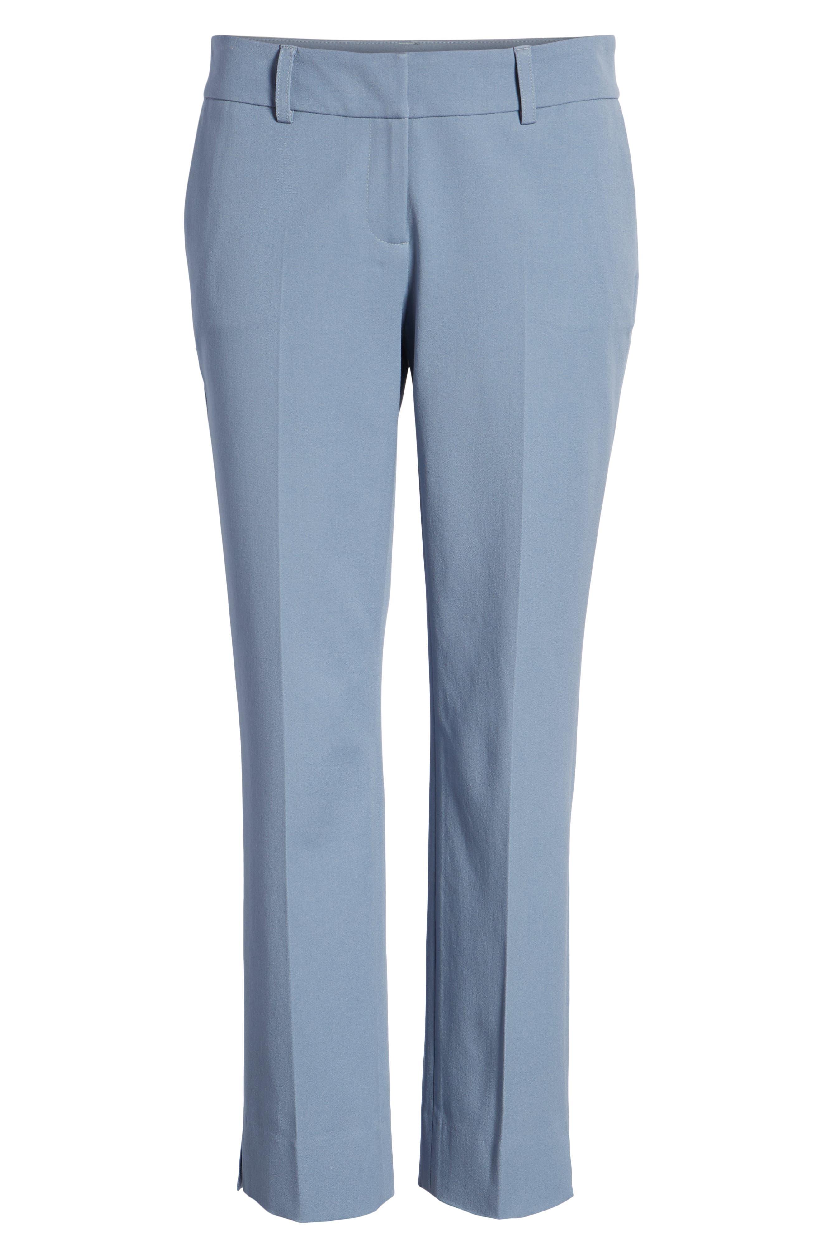 Crop Stretch Cotton Pants,                             Alternate thumbnail 110, color,