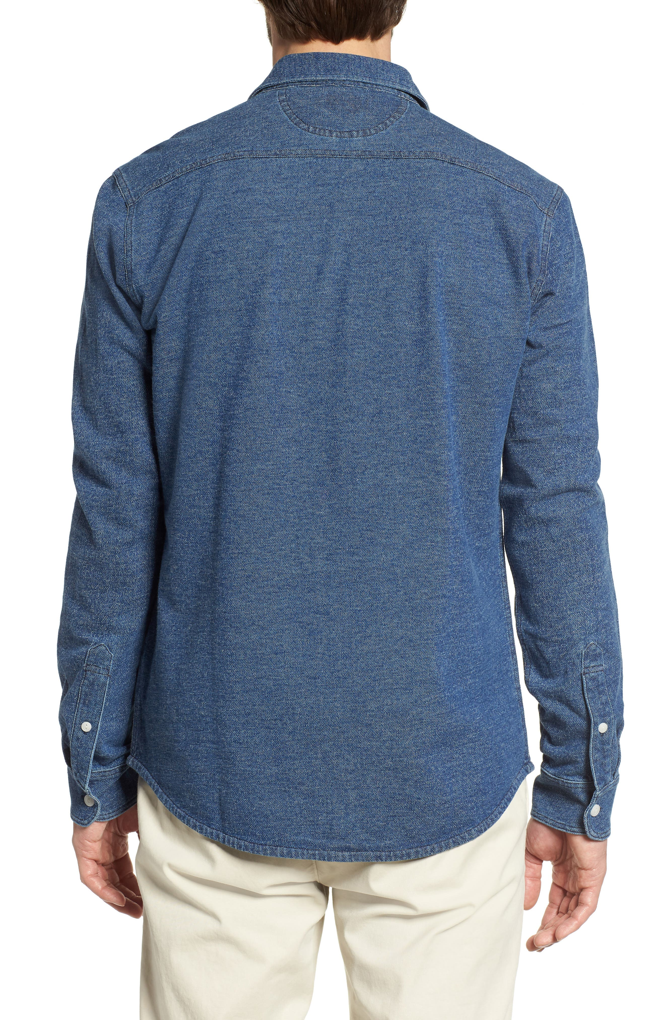 Belmar Chambray Knit Sport Shirt,                             Alternate thumbnail 2, color,                             420