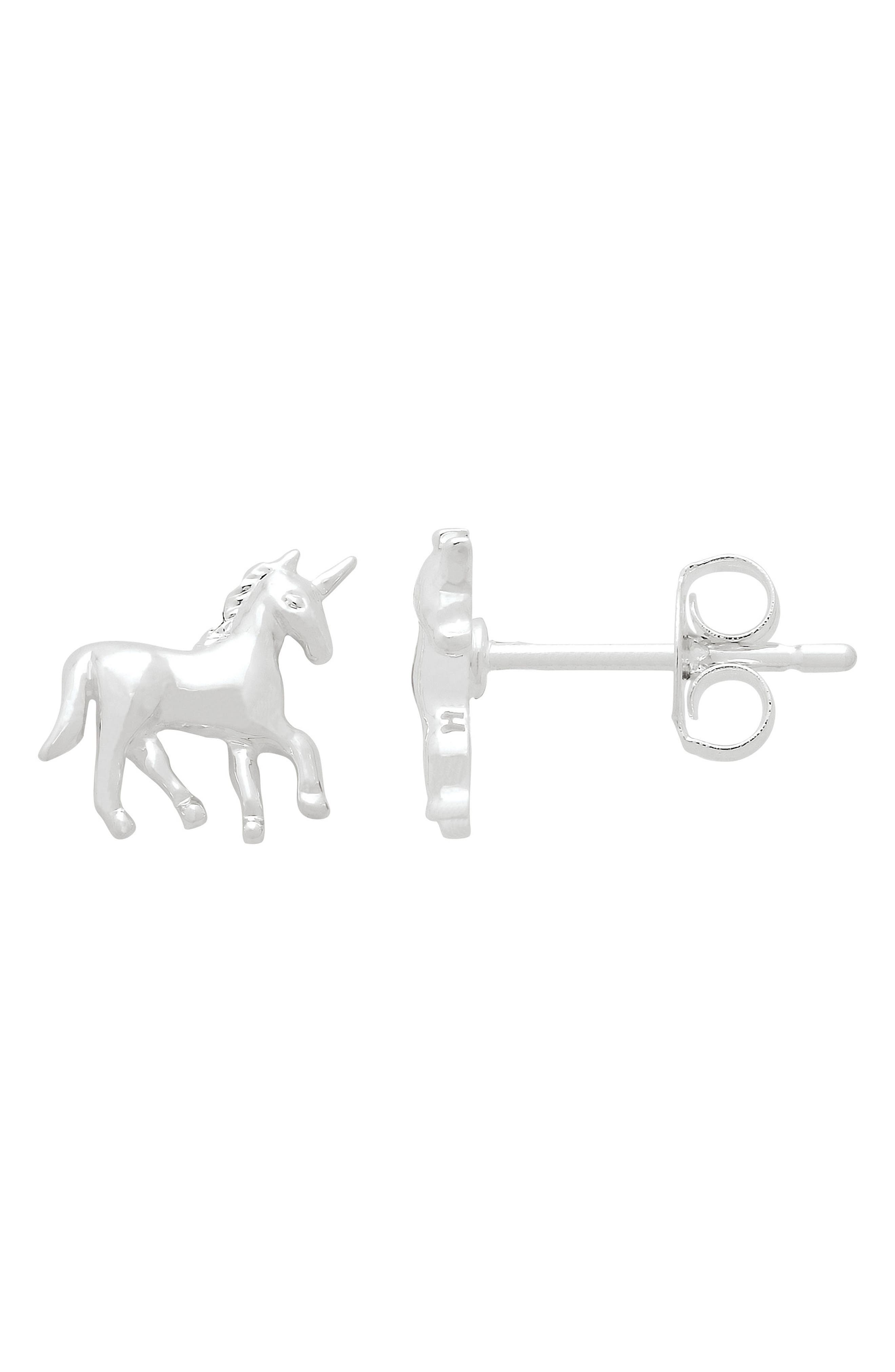Unicorn Stud Earrings,                         Main,                         color, 040