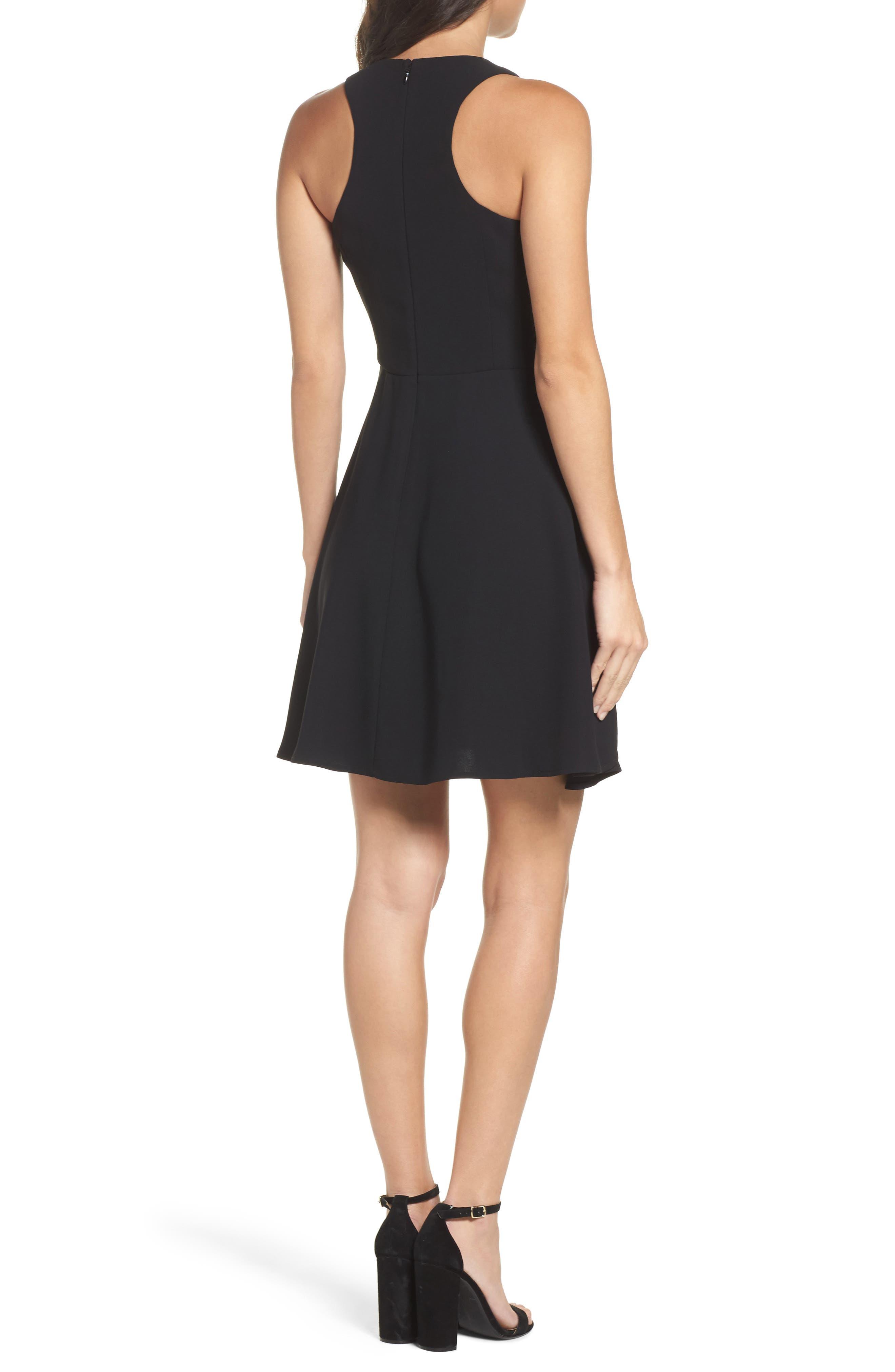 Athena Fit & Flare Dress,                             Alternate thumbnail 2, color,                             001