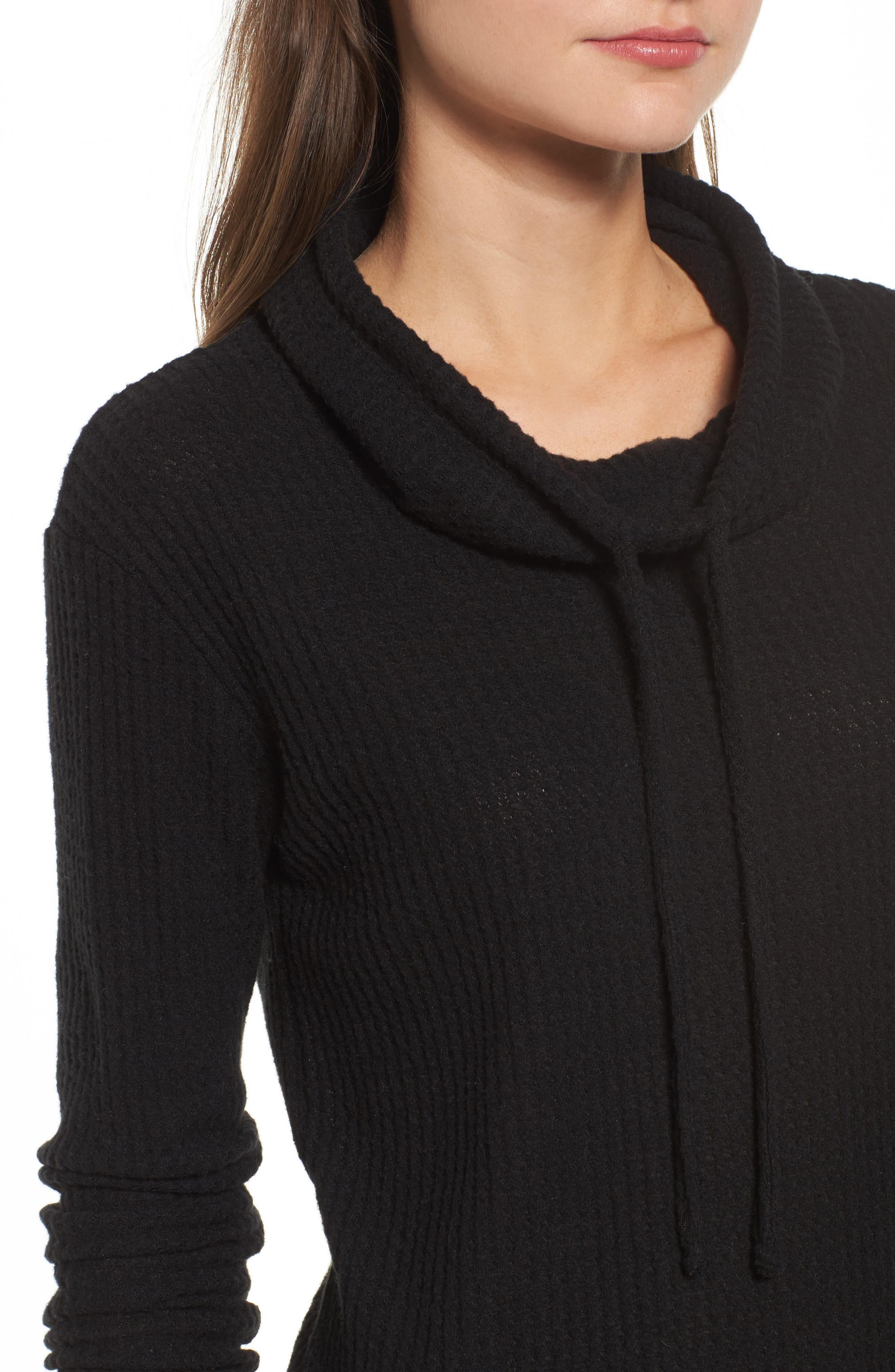 Cowl Neck Waffle Knit Top,                             Alternate thumbnail 13, color,