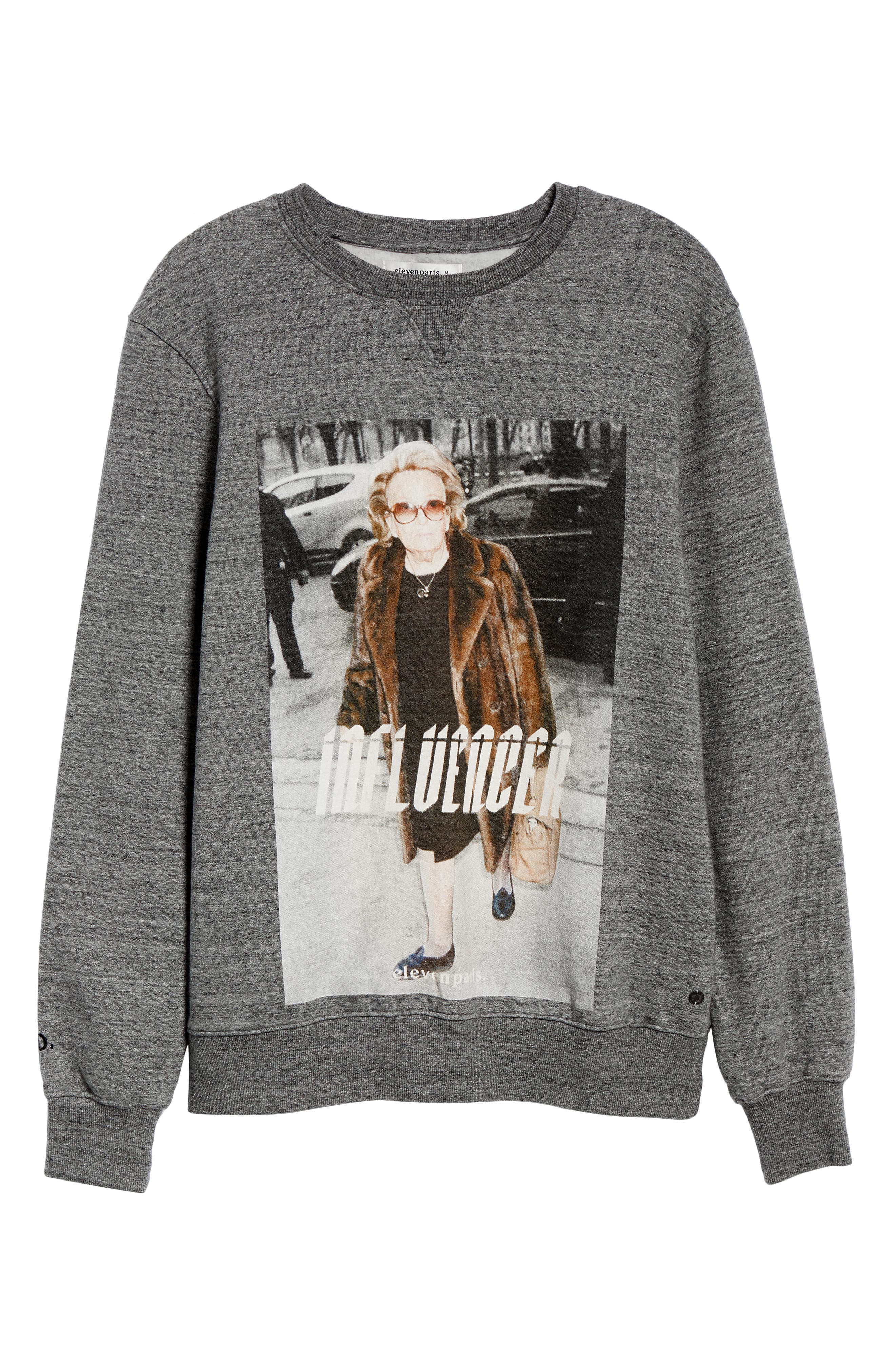 Influencer Graphic Sweatshirt,                             Alternate thumbnail 6, color,                             GREY