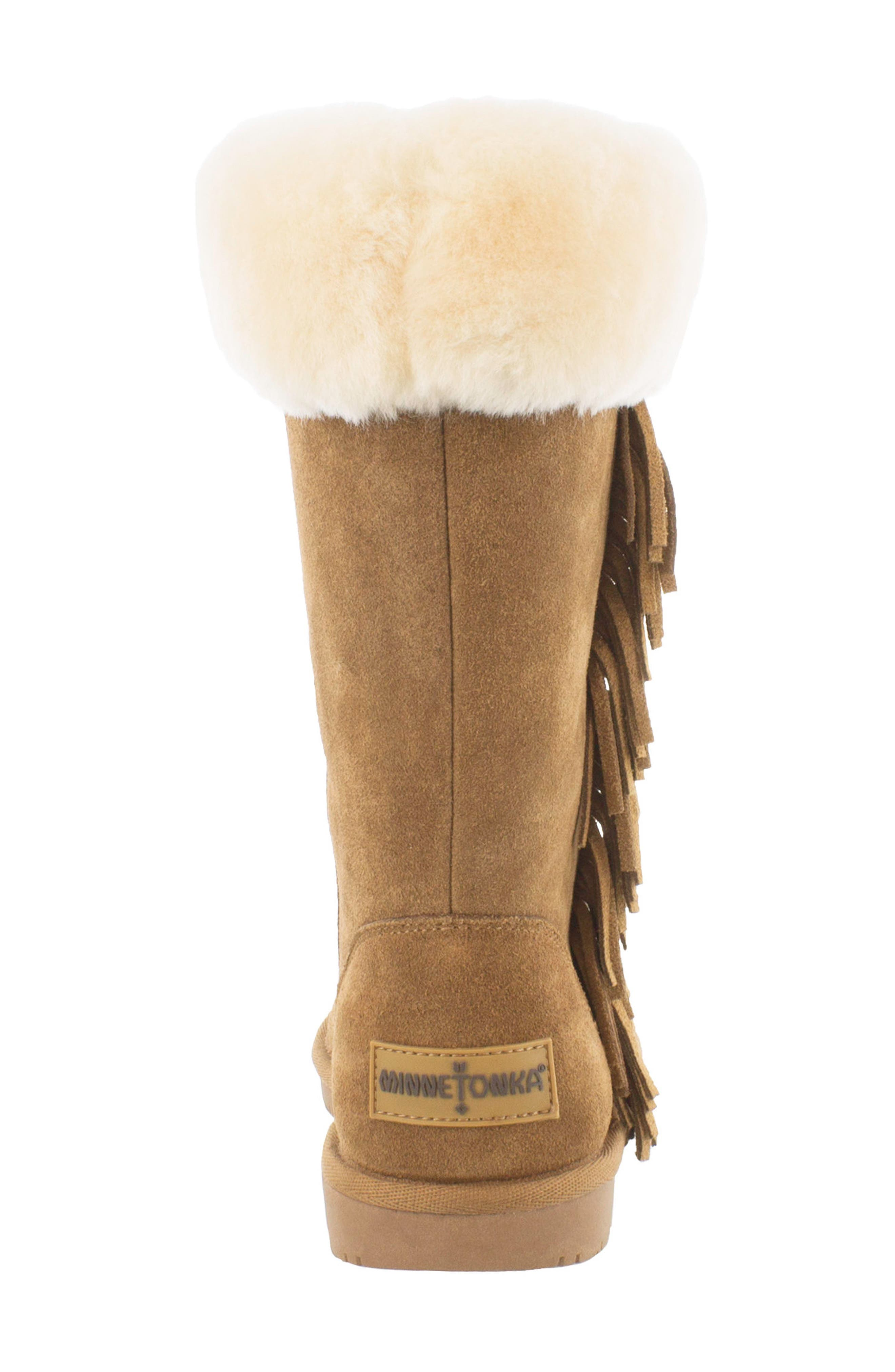 Canyon Genuine Shearling Trim Boot,                             Alternate thumbnail 8, color,
