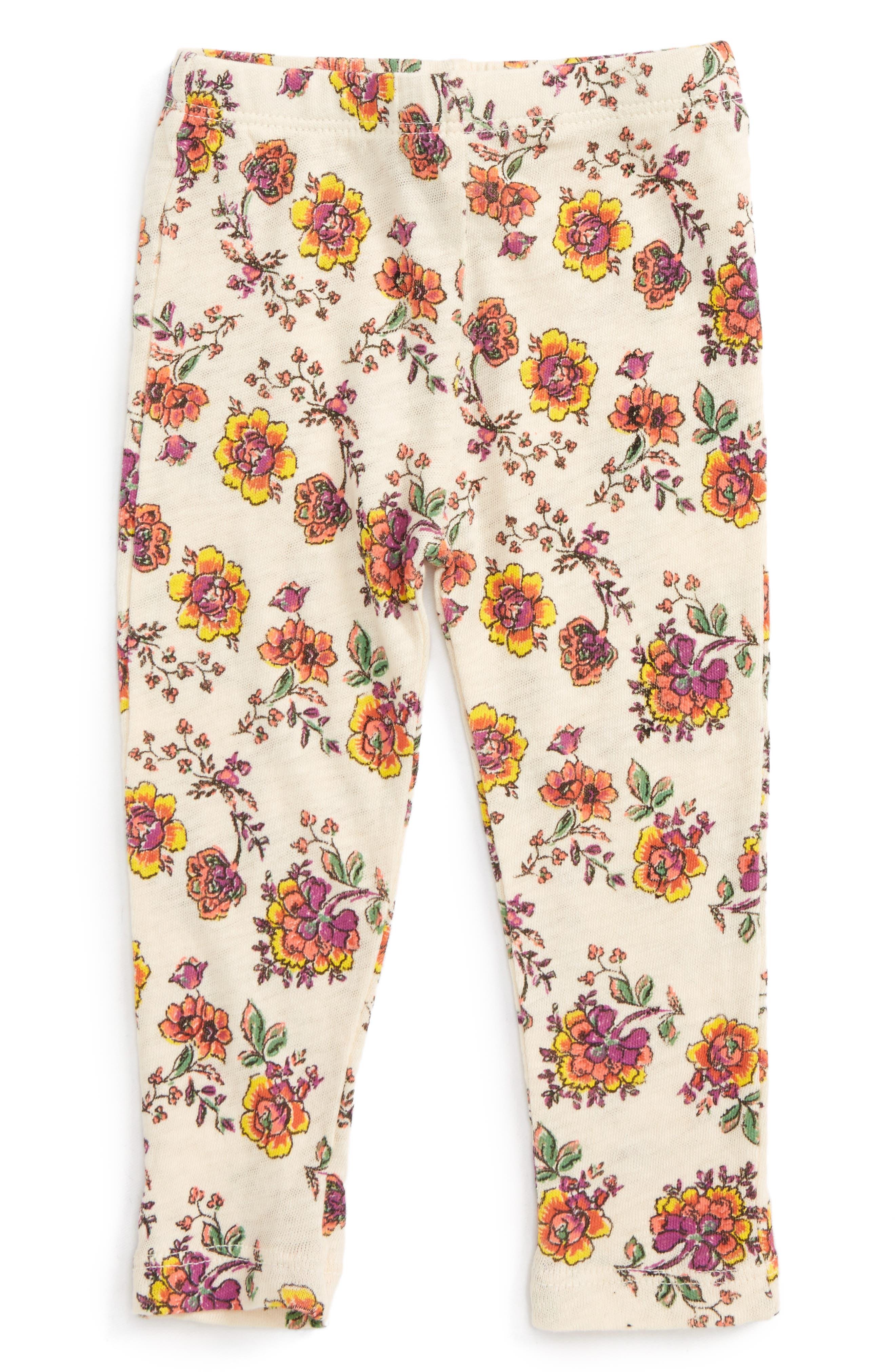 Peek Floral Print Leggings,                             Main thumbnail 1, color,                             900
