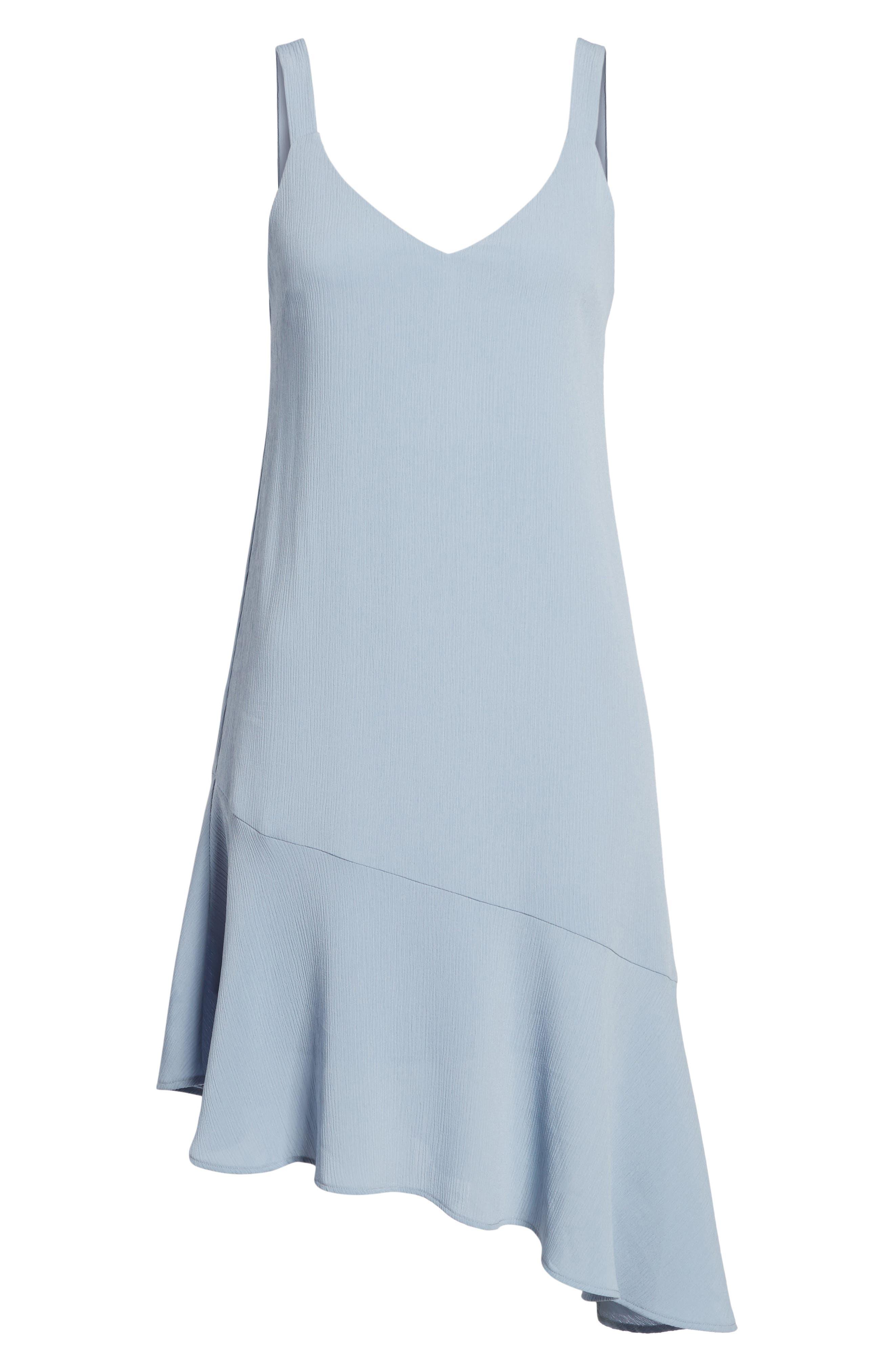 Asymmetrical Ruffle Hem Dress,                             Alternate thumbnail 6, color,                             400