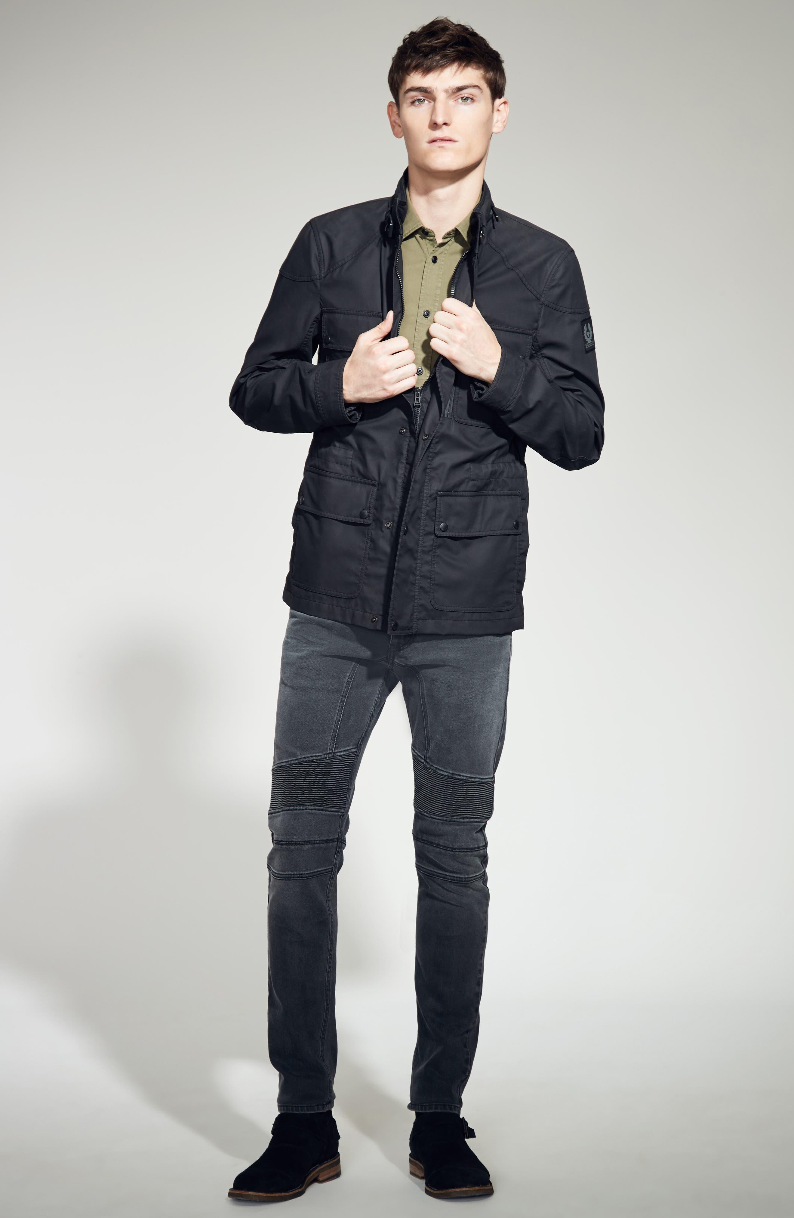 Eastham Slim Fit Stretch Denim Moto Jeans,                             Alternate thumbnail 2, color,                             022