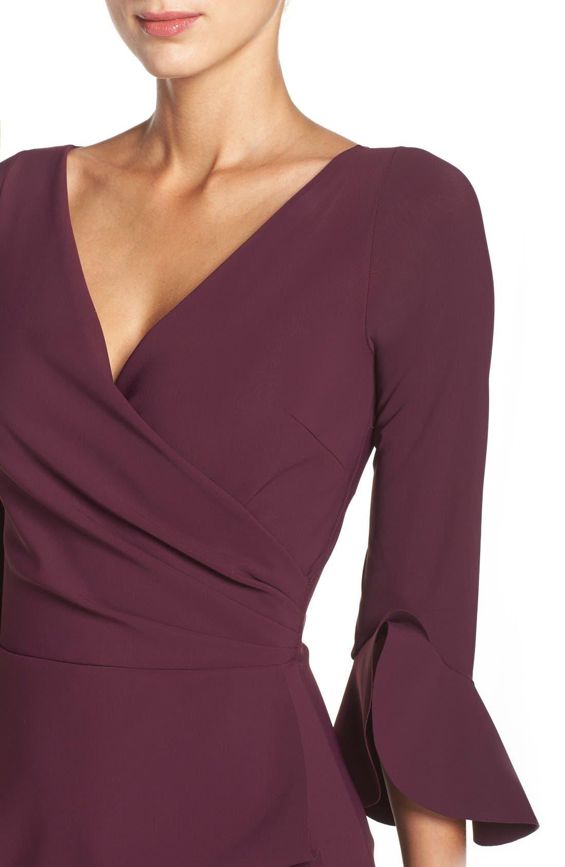 CHIARA BONI LA PETITE ROBE,                             'Triana' Jersey Sheath Dress,                             Alternate thumbnail 5, color,                             501