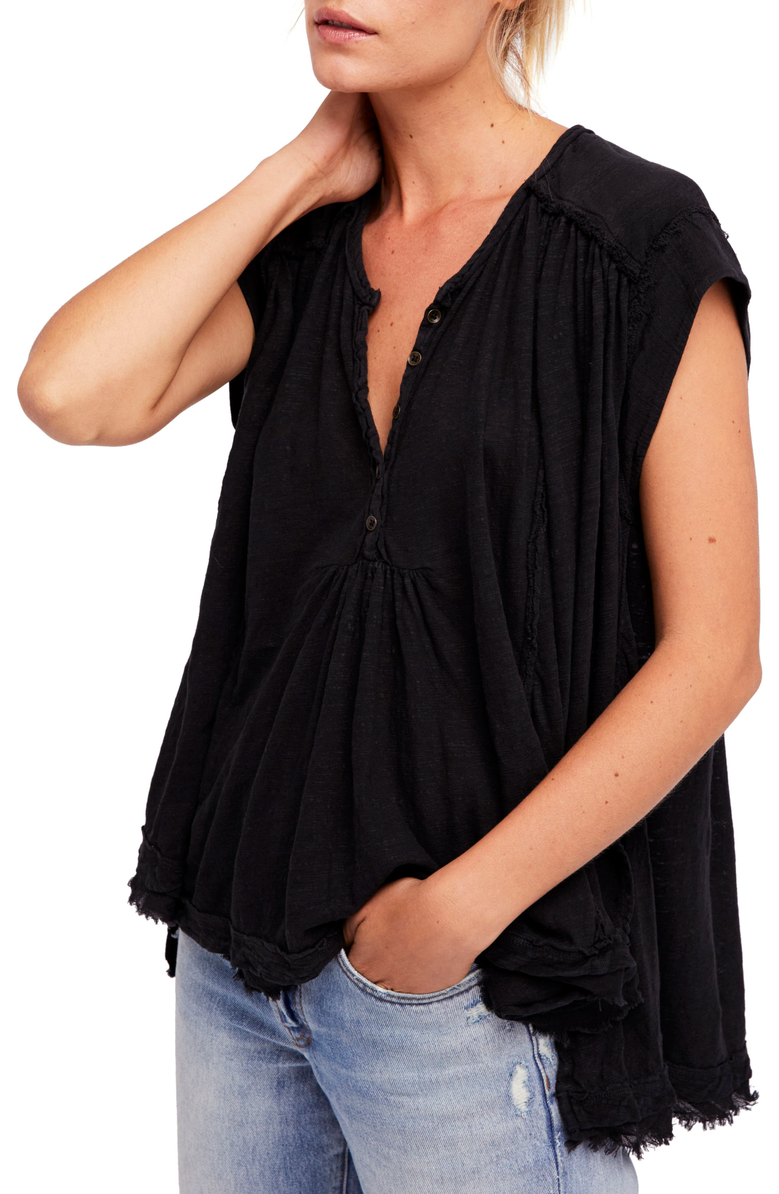 We the Free by Free People Aster Henley Top,                         Main,                         color, 001