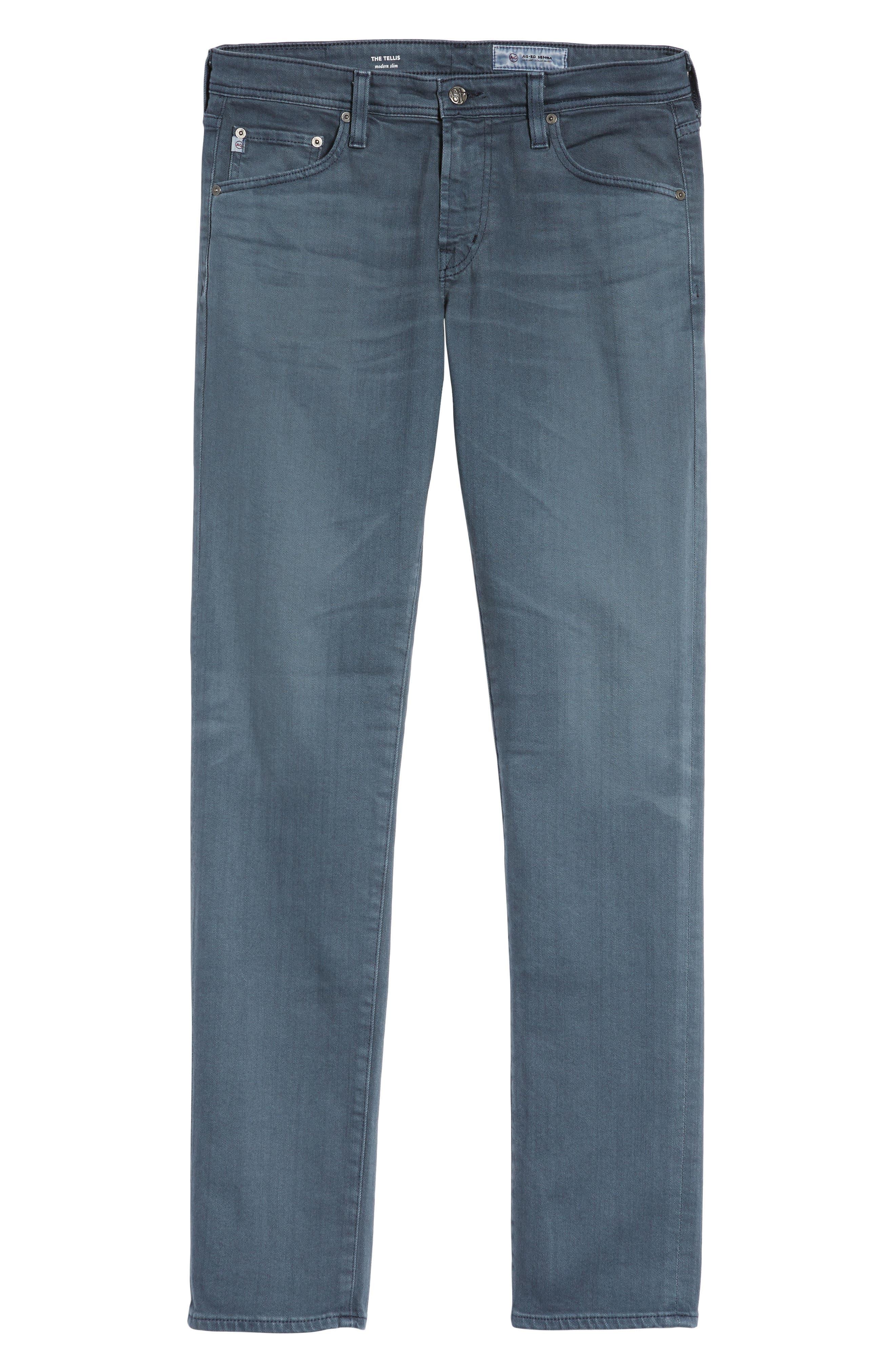 Tellis Slim Fit Jeans,                             Alternate thumbnail 6, color,                             425