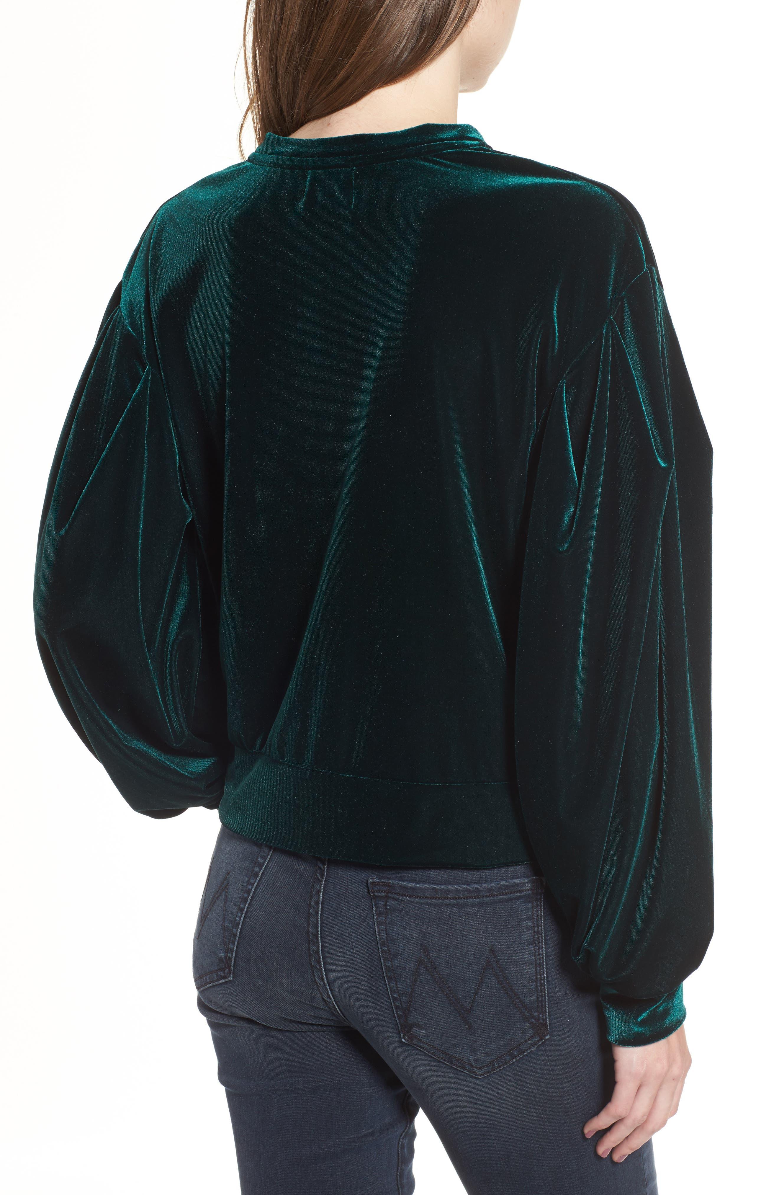 Comme Ca Velvet Sweatshirt,                             Alternate thumbnail 2, color,                             300