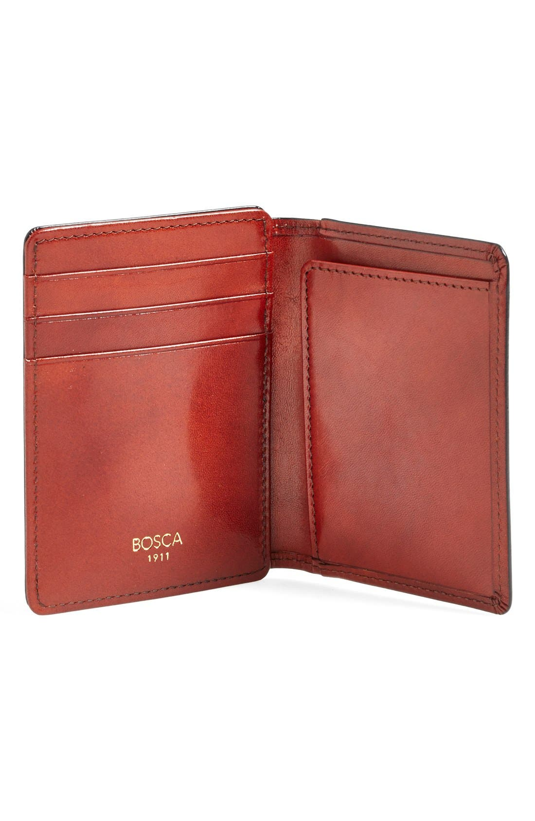 'Old Leather' Front Pocket ID Wallet,                             Alternate thumbnail 2, color,                             COGNAC
