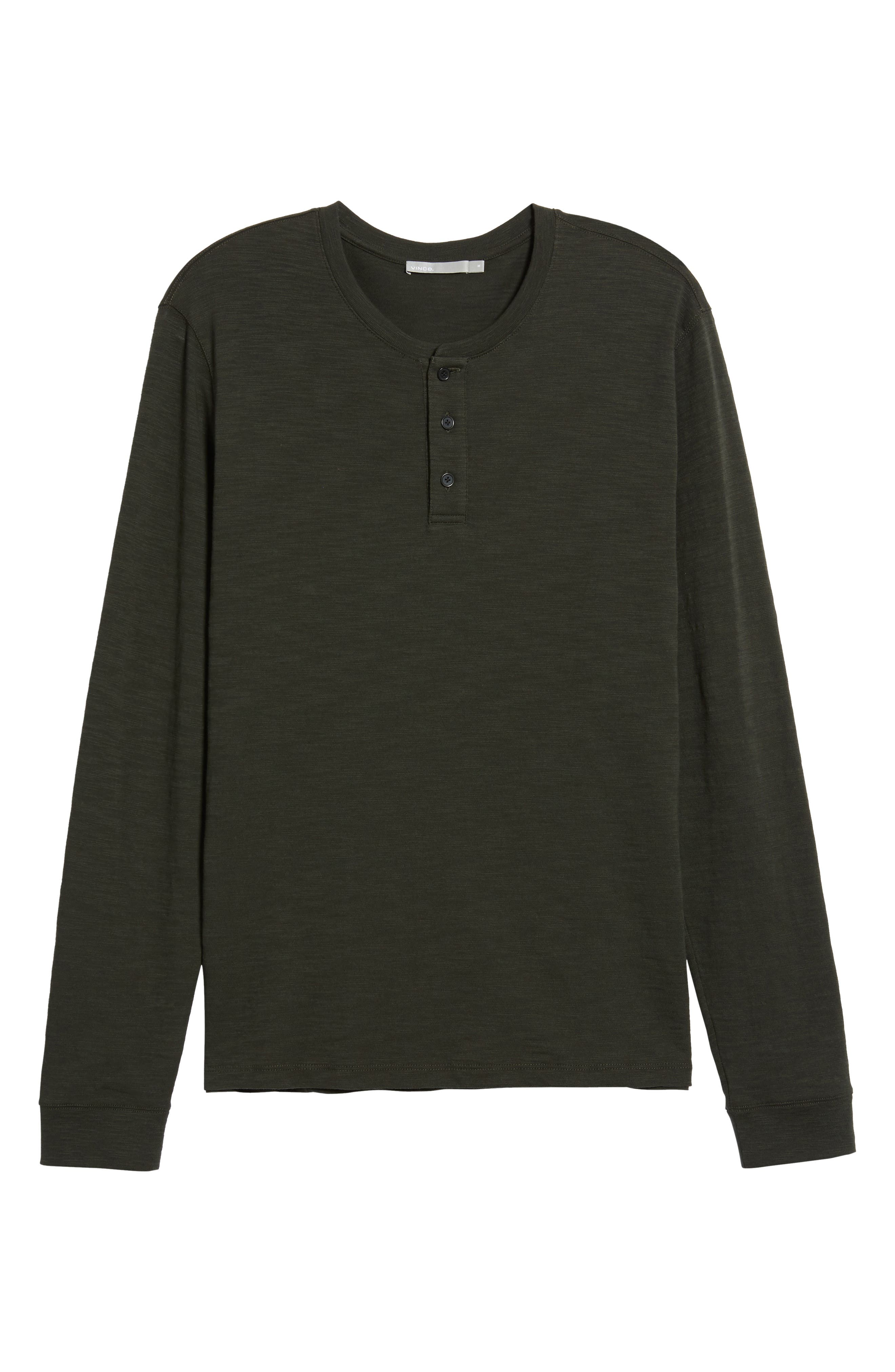 Long Sleeve Slub Henley,                             Alternate thumbnail 6, color,                             CACTUS