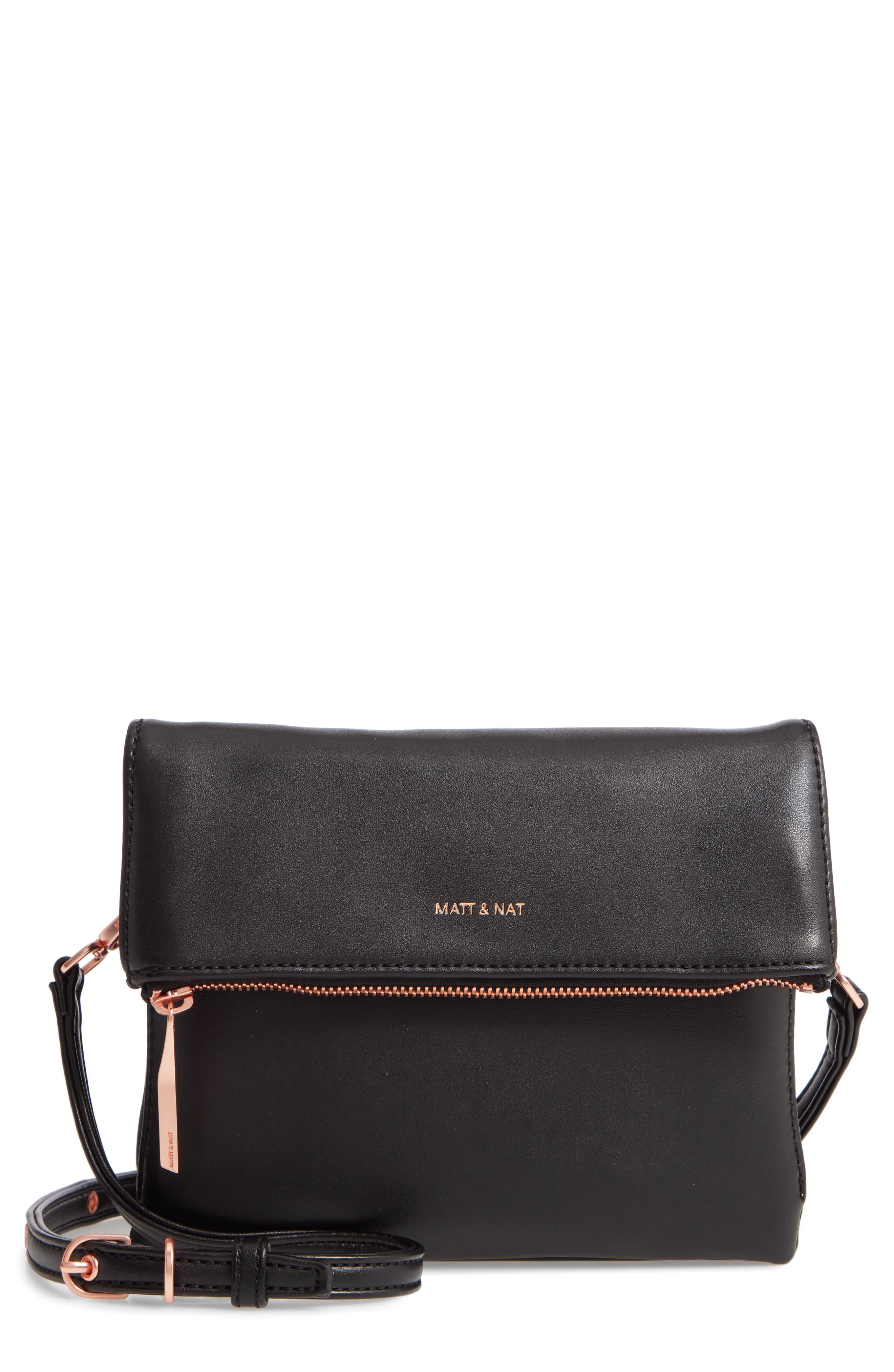 Matt & Nat Hiley Faux Leather Crossbody Bag - Black