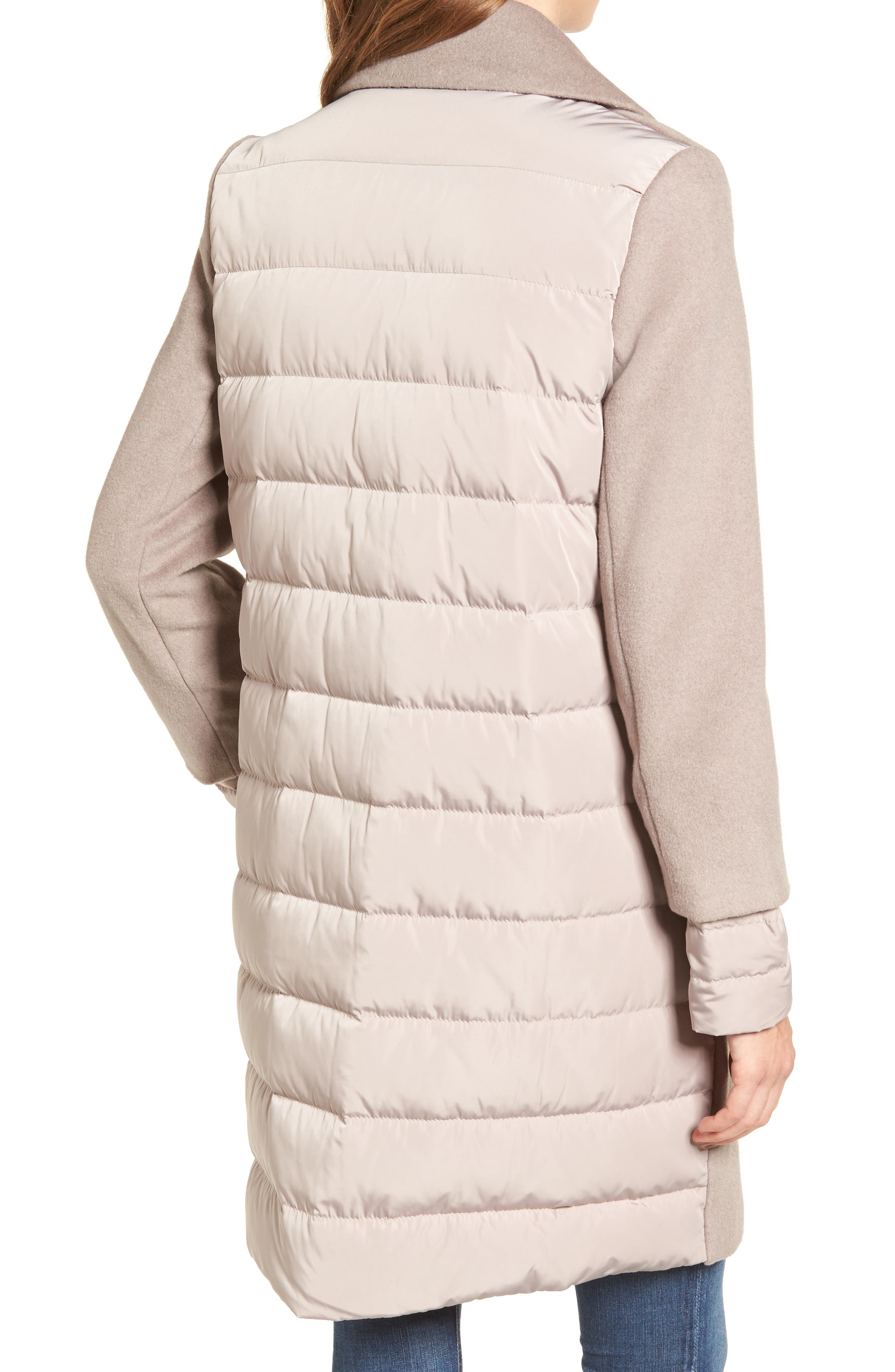 Wool & Down Reefer Coat,                             Alternate thumbnail 4, color,