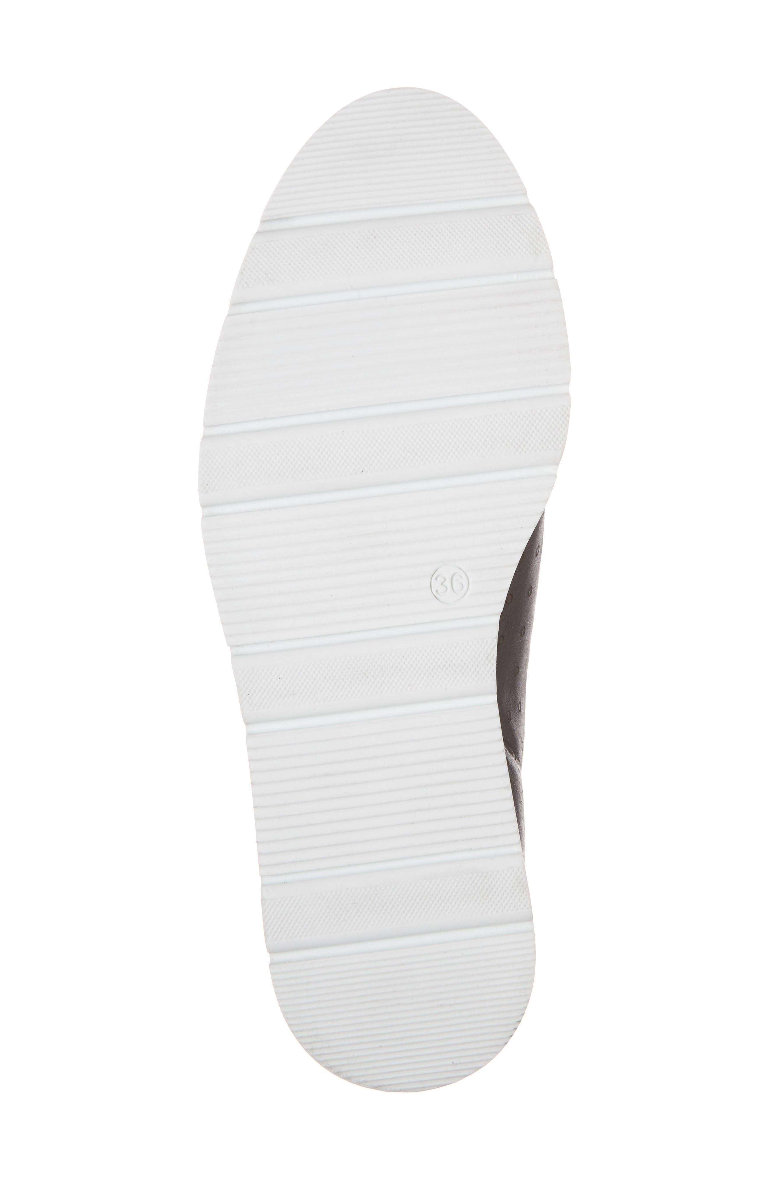 Leigh Slip-On Sneaker,                             Alternate thumbnail 6, color,                             BLACK GLAMOUR LEATHER