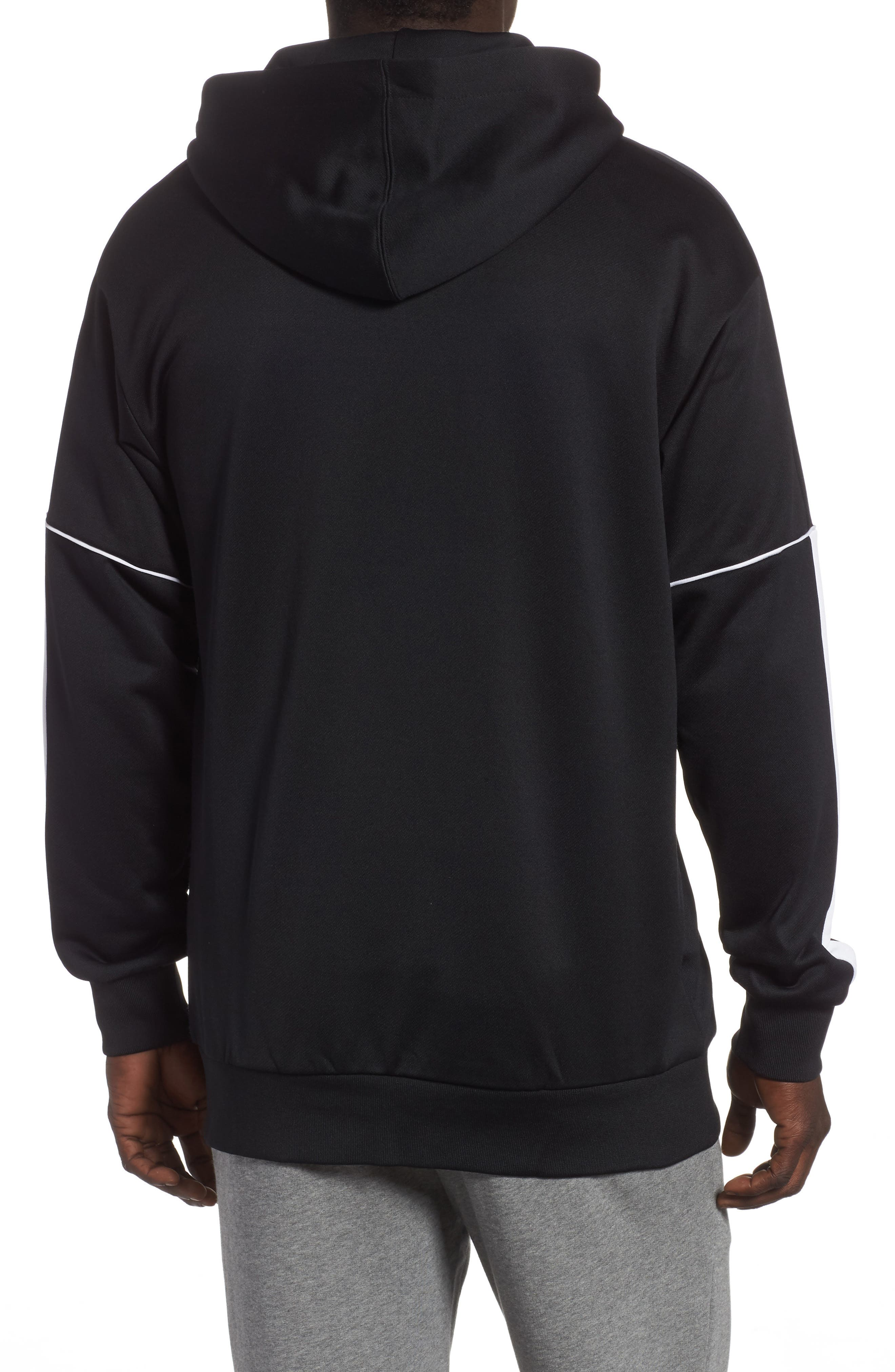 Retro Zip Hoodie Jacket,                             Alternate thumbnail 2, color,                             PUMA BLACK