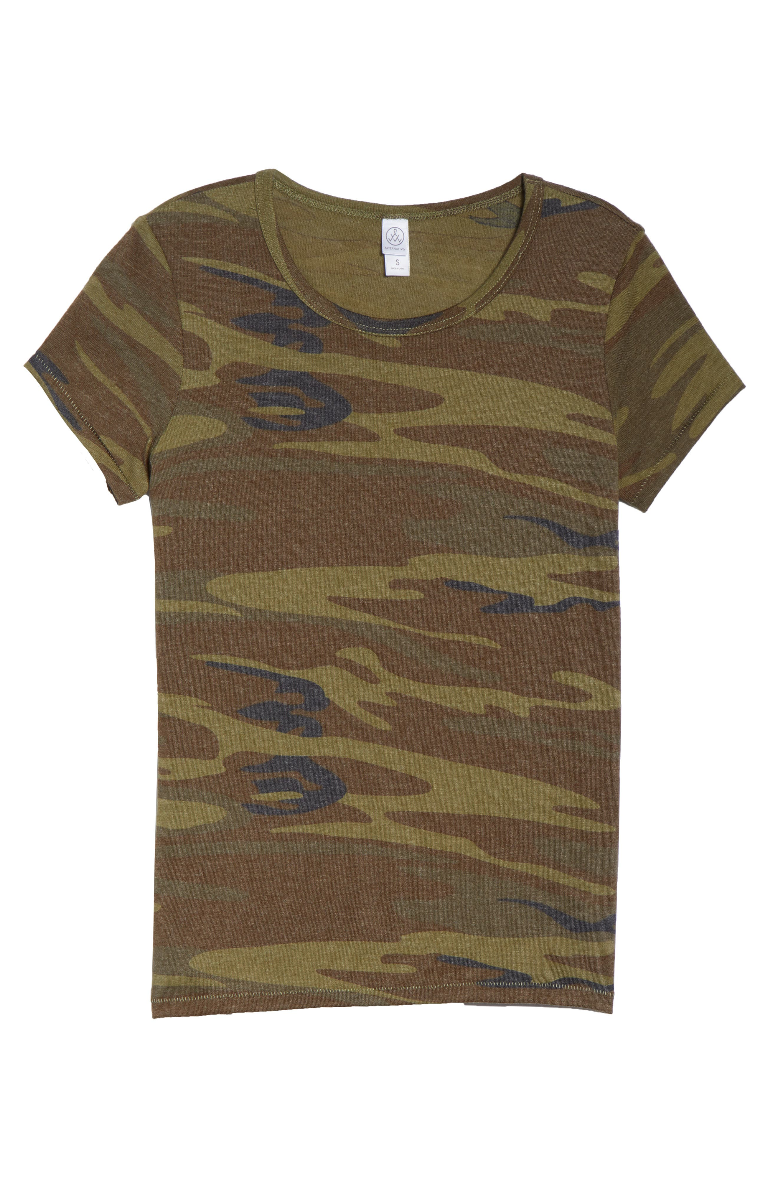 Ideal Print Tee,                             Alternate thumbnail 6, color,                             CAMO