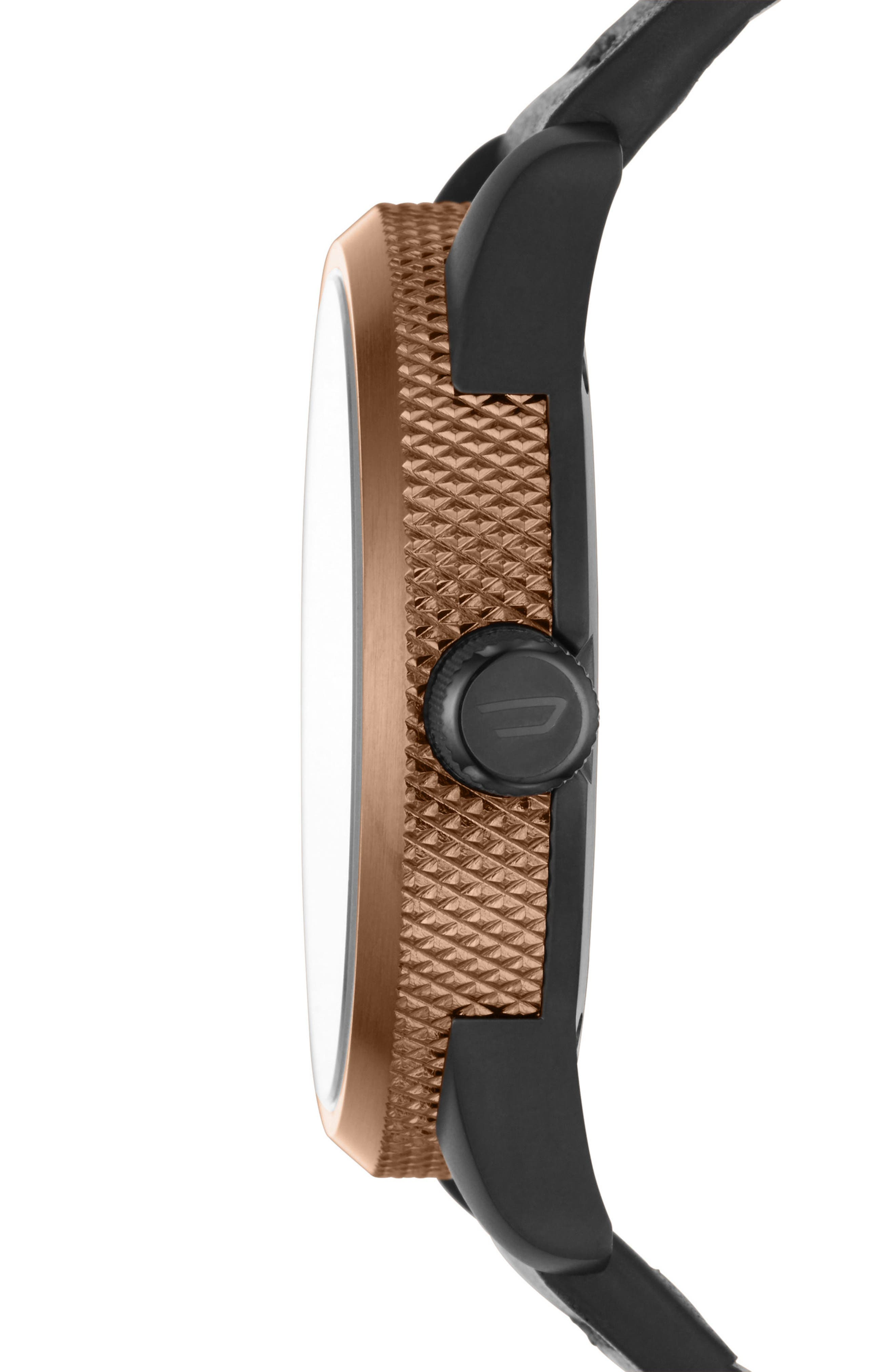 Rasp Leather Strap Watch, 46mm,                             Alternate thumbnail 2, color,                             001