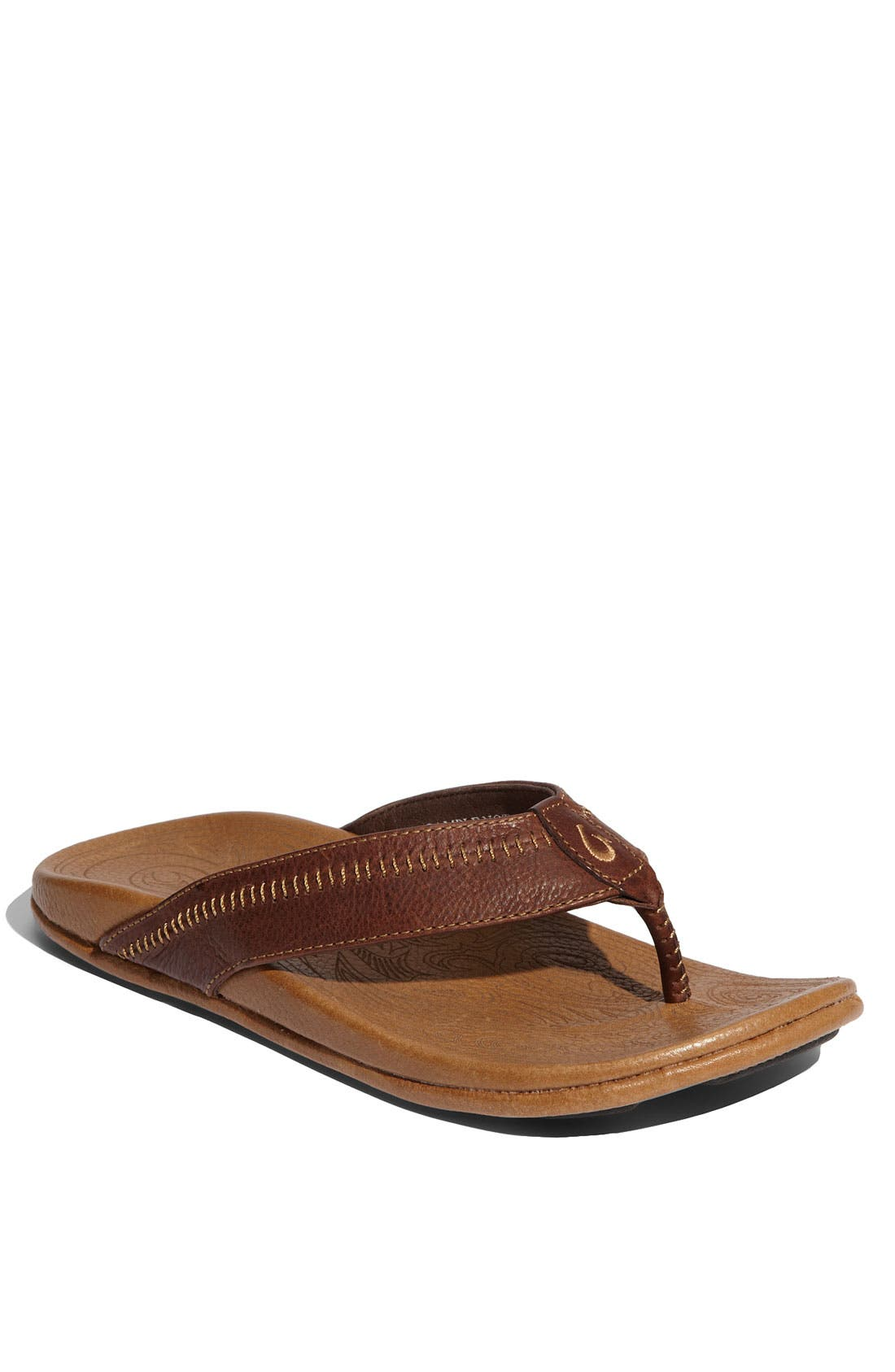 'Hiapo' Flip Flop,                             Main thumbnail 1, color,                             DARK JAVA TOFFEE