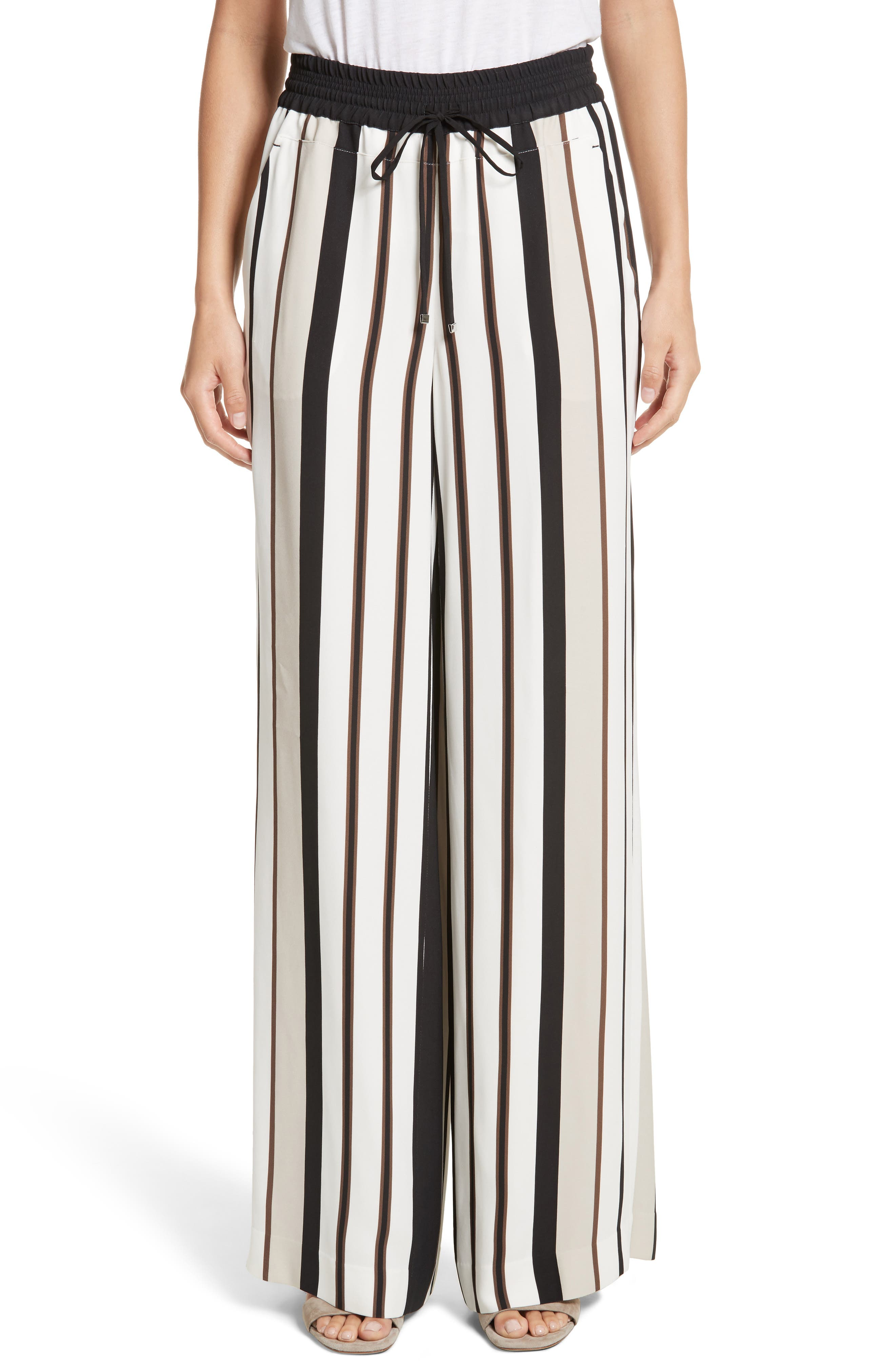 LAFAYETTE 148 NEW YORK Allen Legacy Stripe Drape Cloth Pants, Main, color, 001