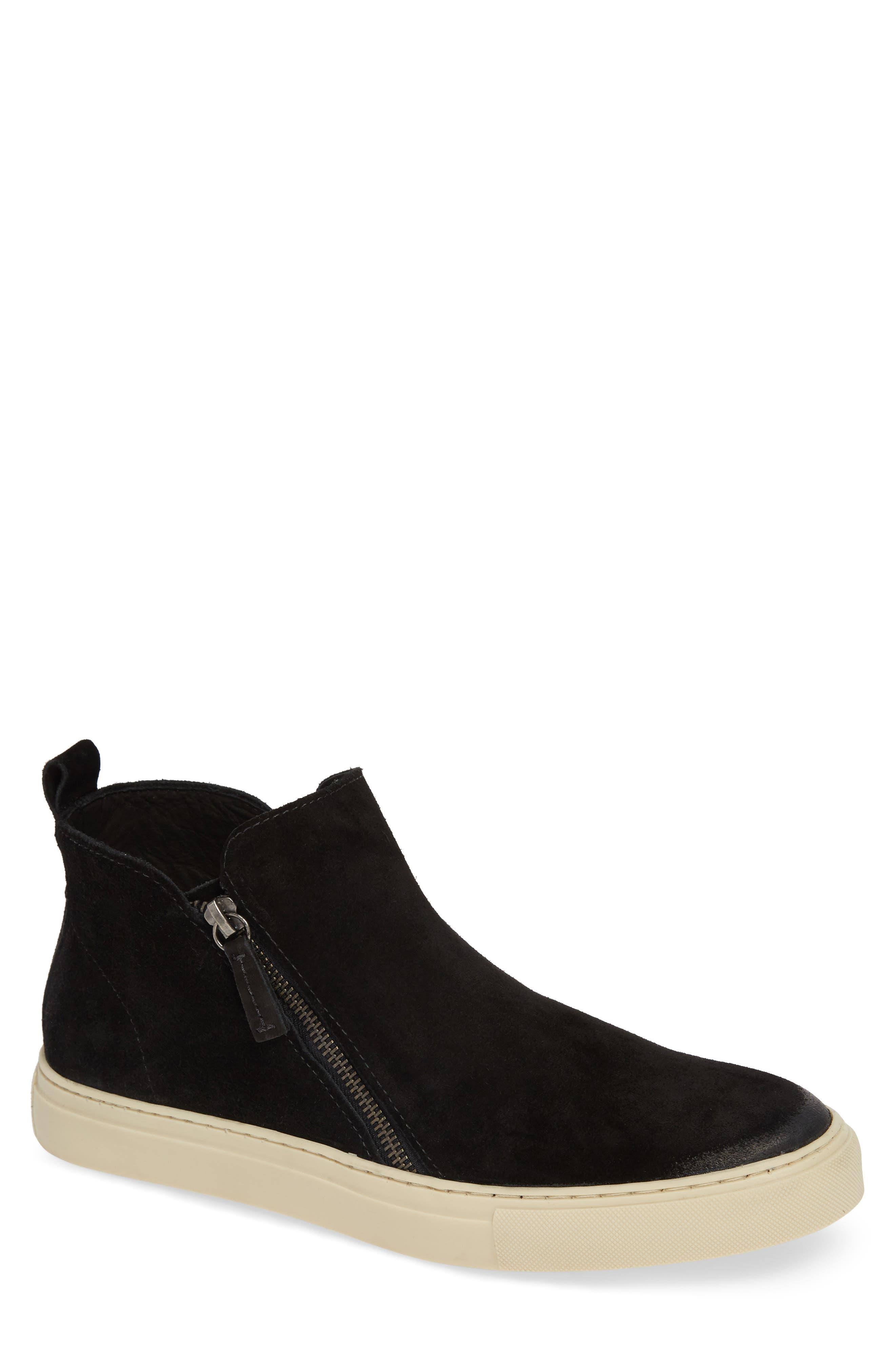 Barlow Zip Boot,                         Main,                         color, BLACK