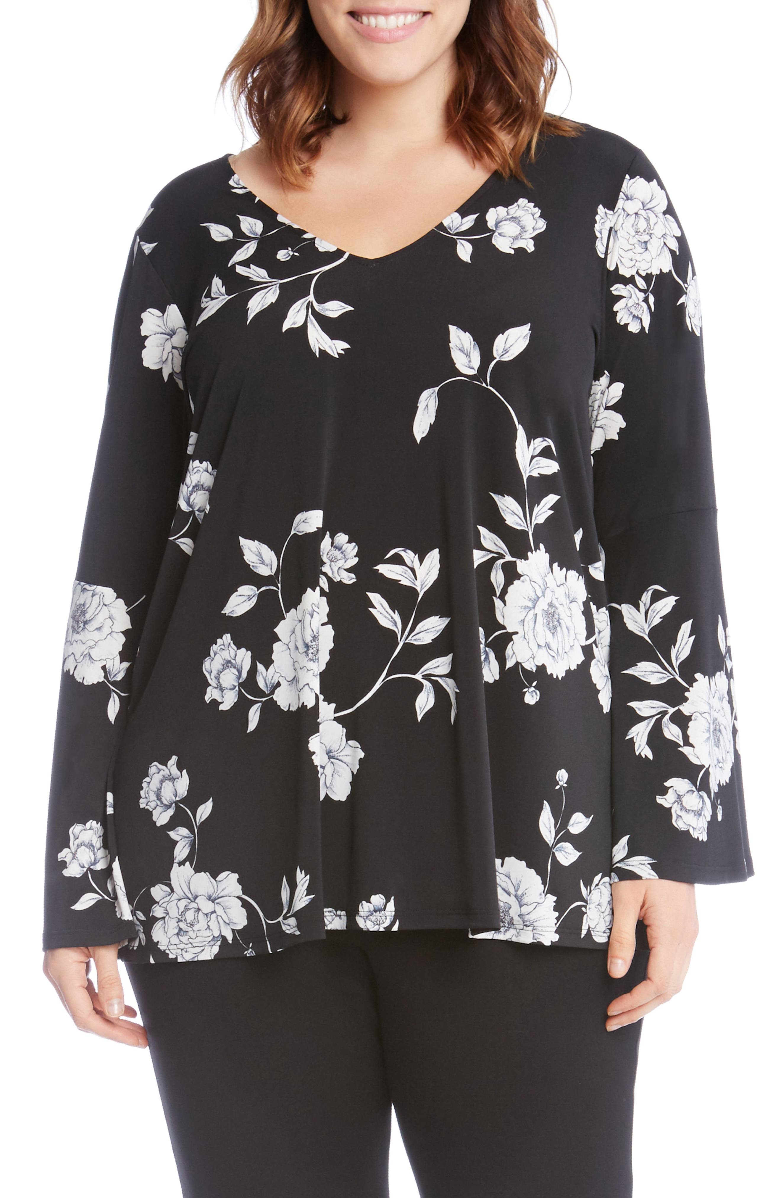 Print Flare Sleeve Top,                         Main,                         color, 013
