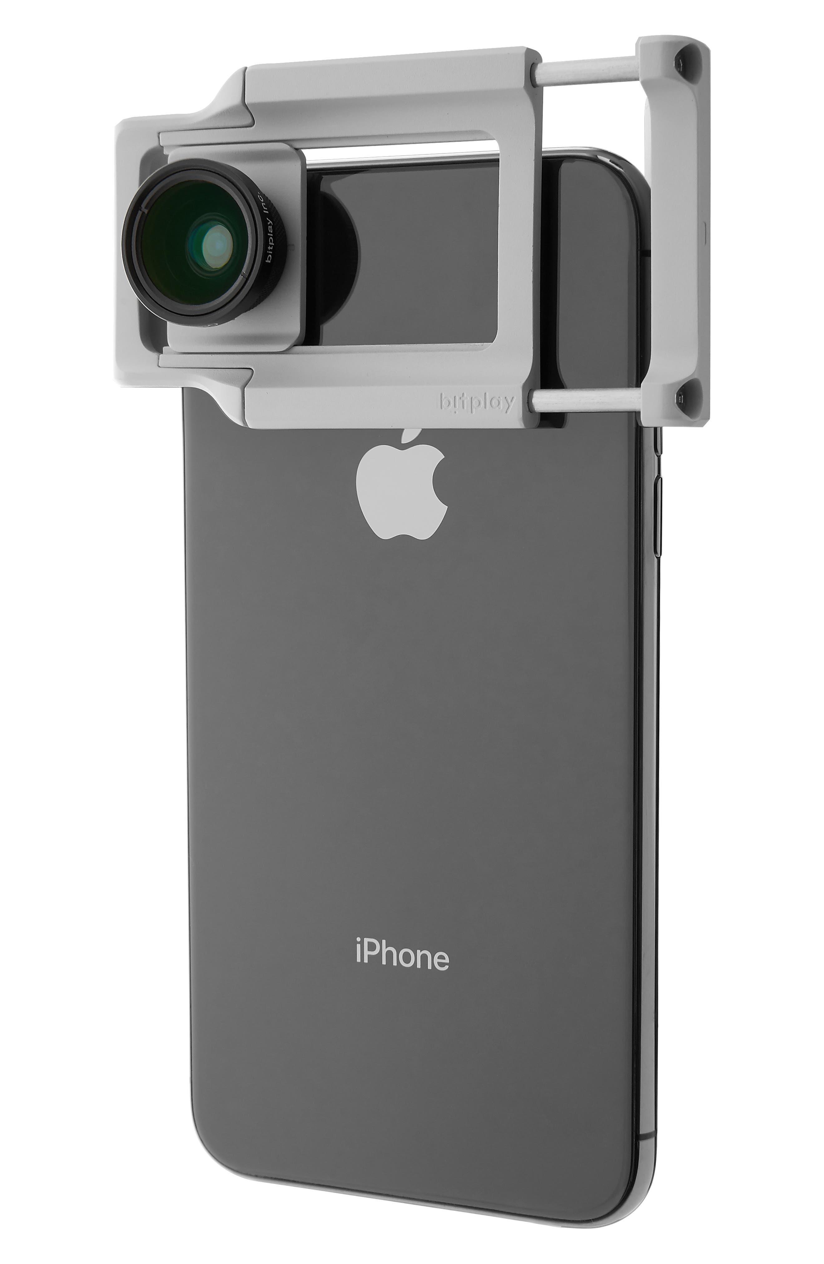 AllClip Lens Holder + Wide Angle Lens,                             Main thumbnail 1, color,                             SILVER