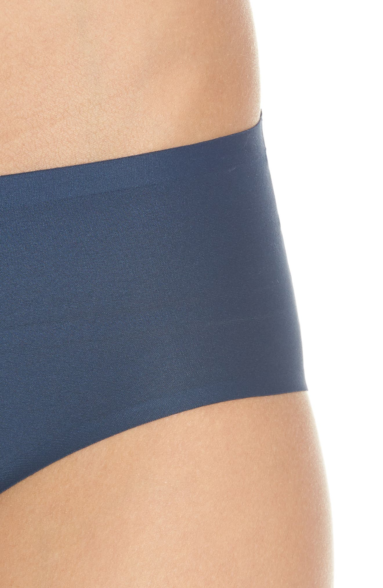 Soft Stretch Seamless Hipster Panties,                             Alternate thumbnail 4, color,                             DEEP BLUE
