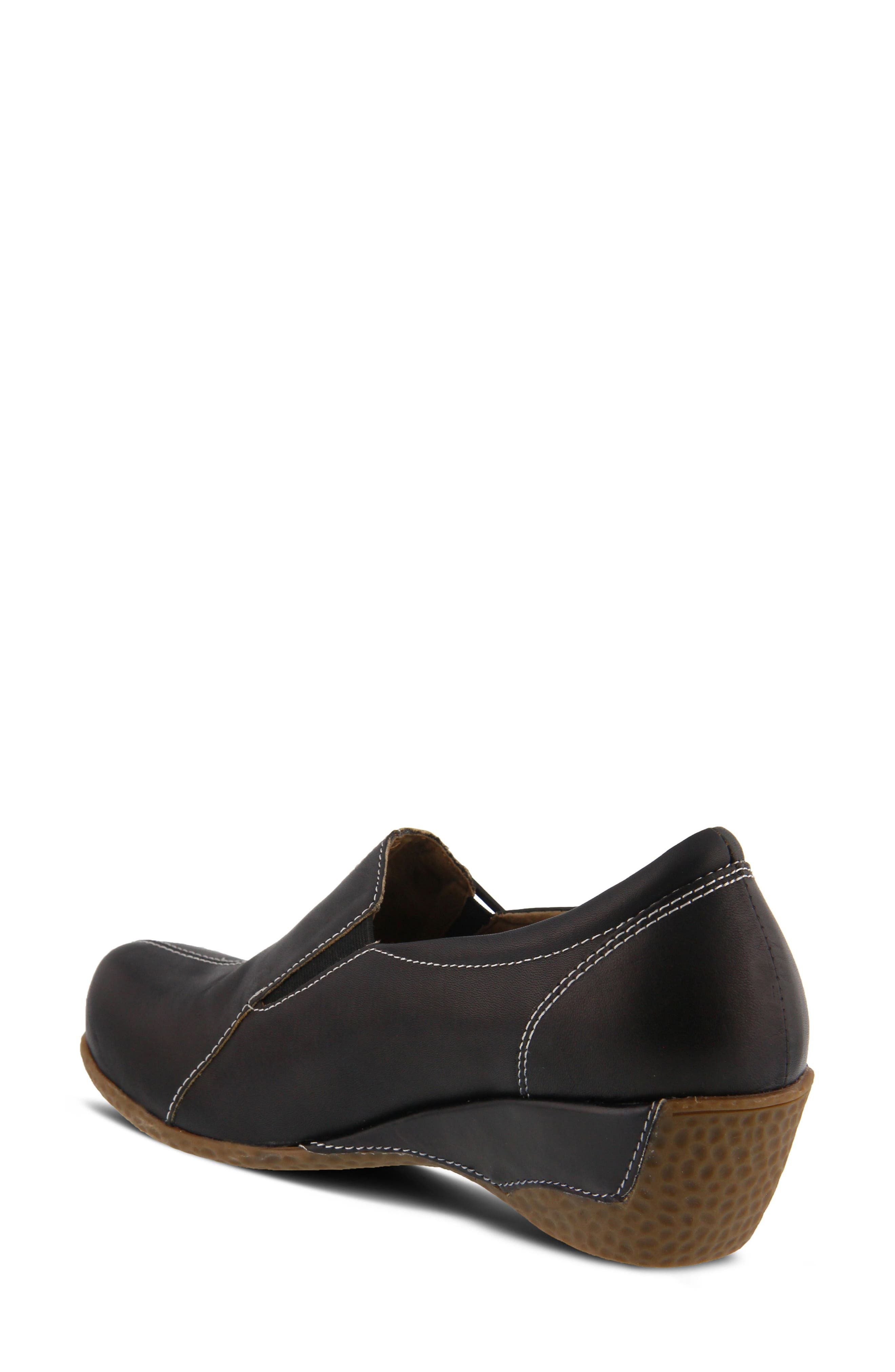 L'Artiste Agacia Slip-On,                             Alternate thumbnail 2, color,                             BLACK LEATHER