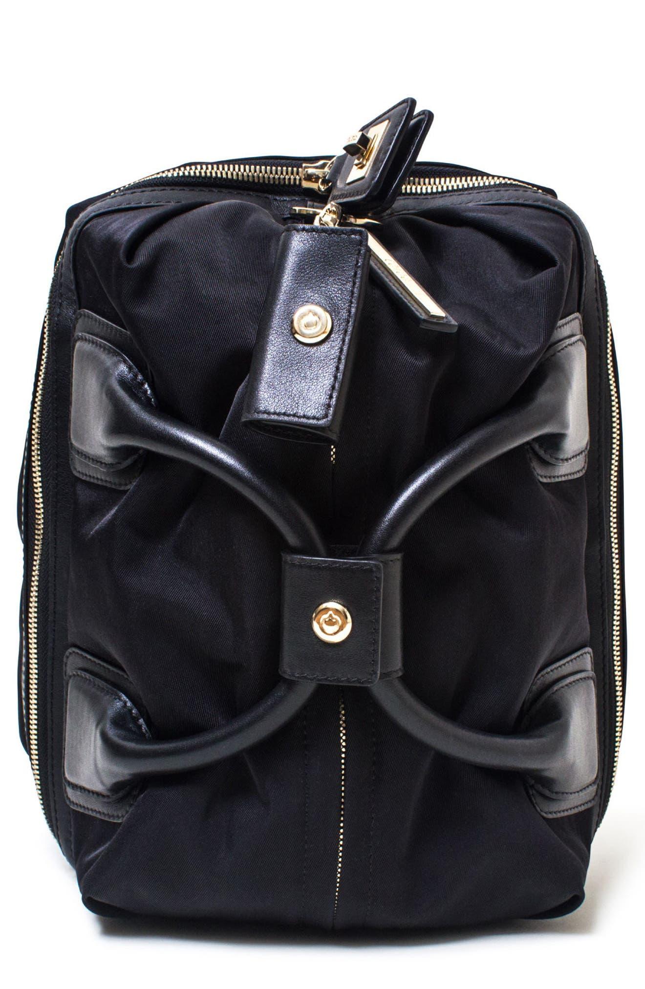 Studio Duffel Backpack,                         Main,                         color, BLACK/ GOLD