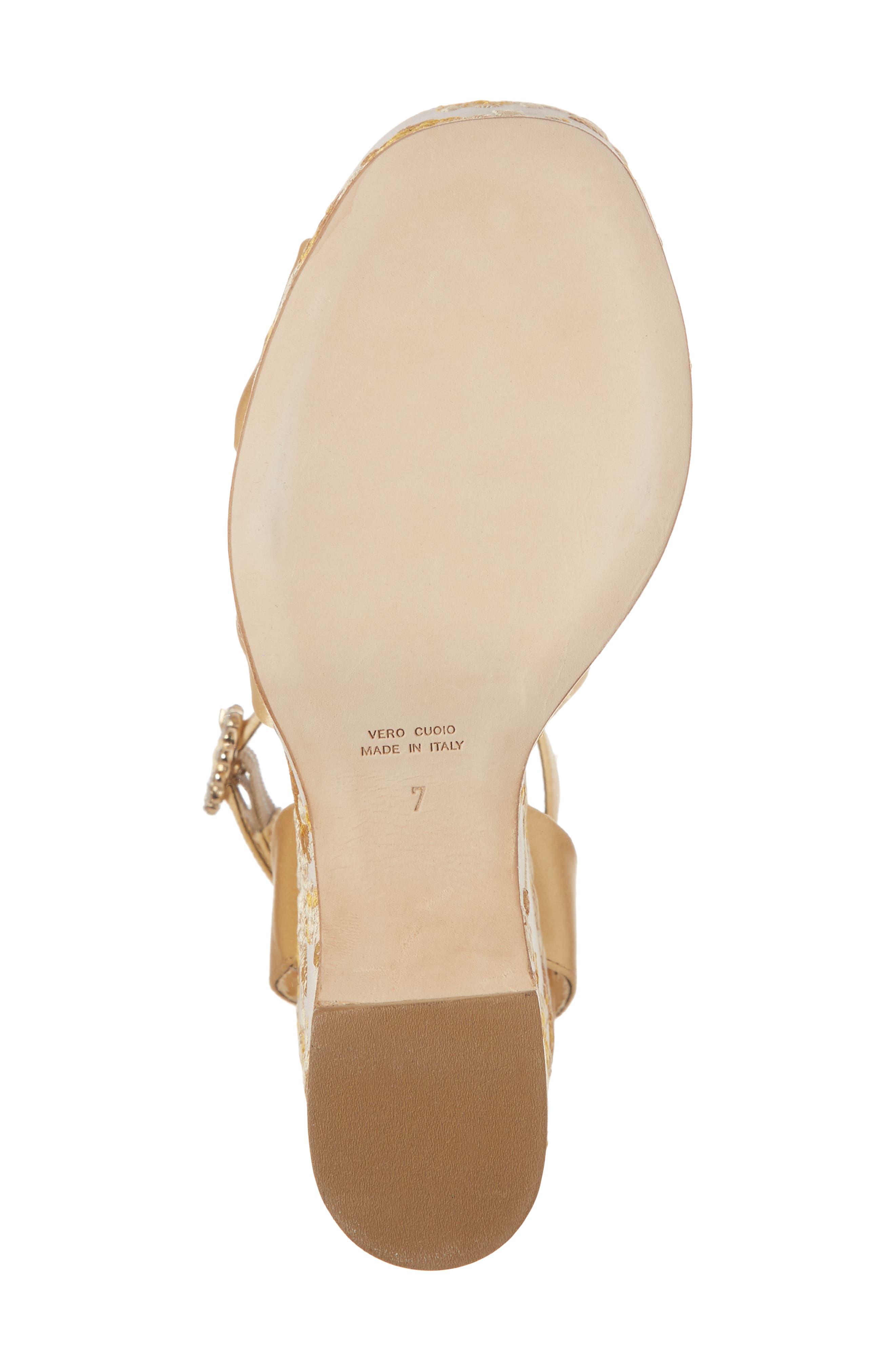 Serena Brocade Platform Sandal,                             Alternate thumbnail 23, color,