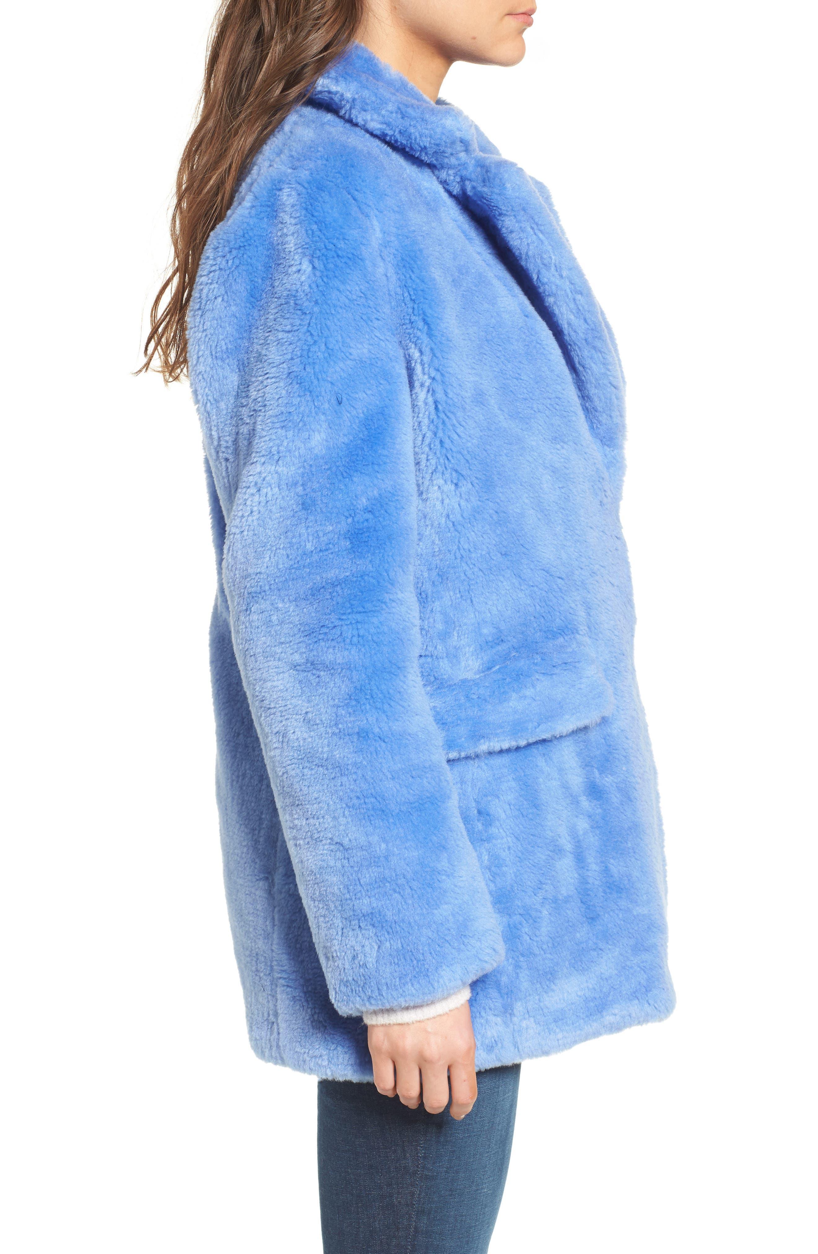 Yuna Teddy Faux Fur Jacket,                             Alternate thumbnail 3, color,