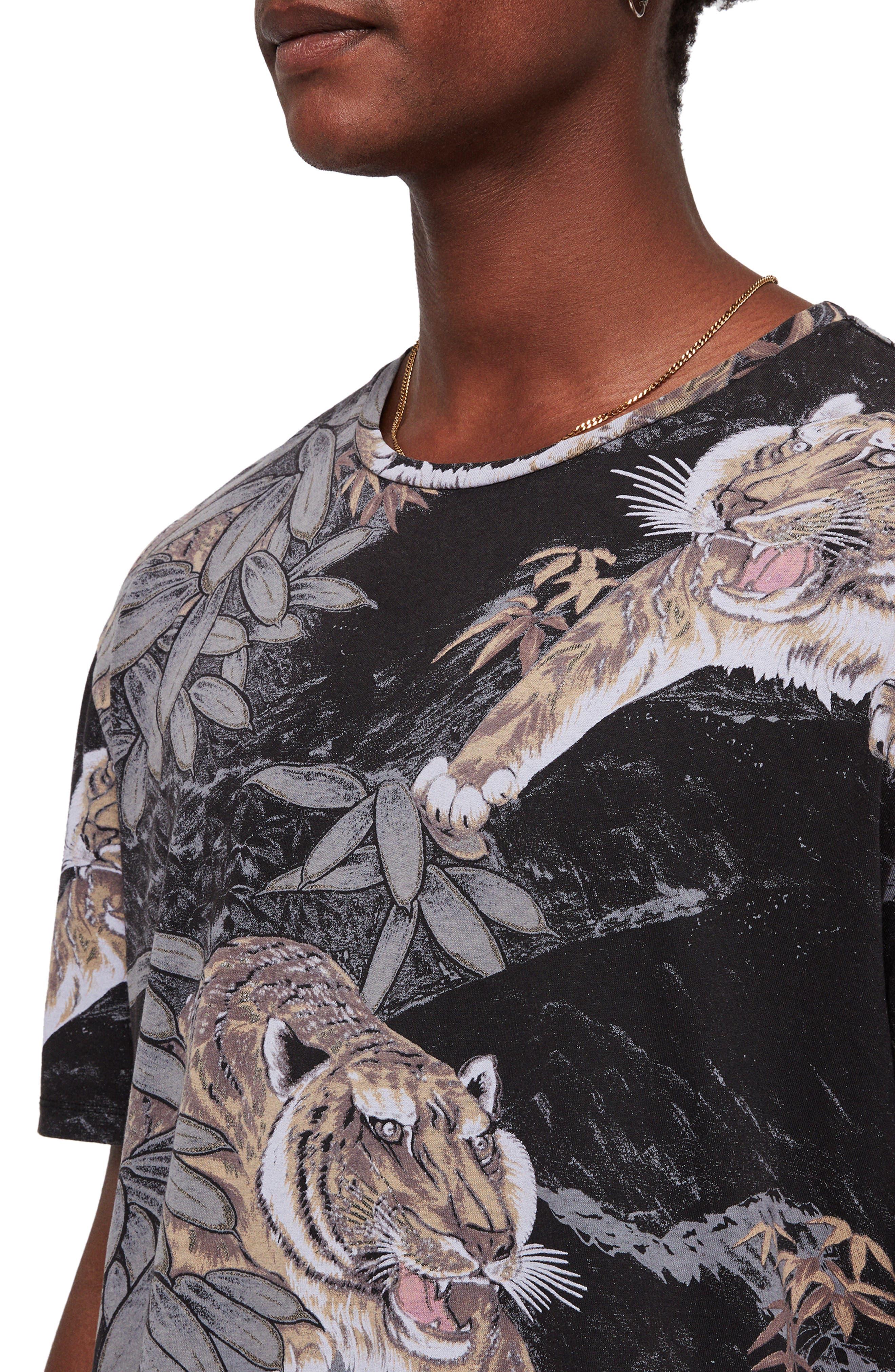 Chokai Slim Fit T-Shirt,                             Alternate thumbnail 4, color,                             VINTAGE BLACK